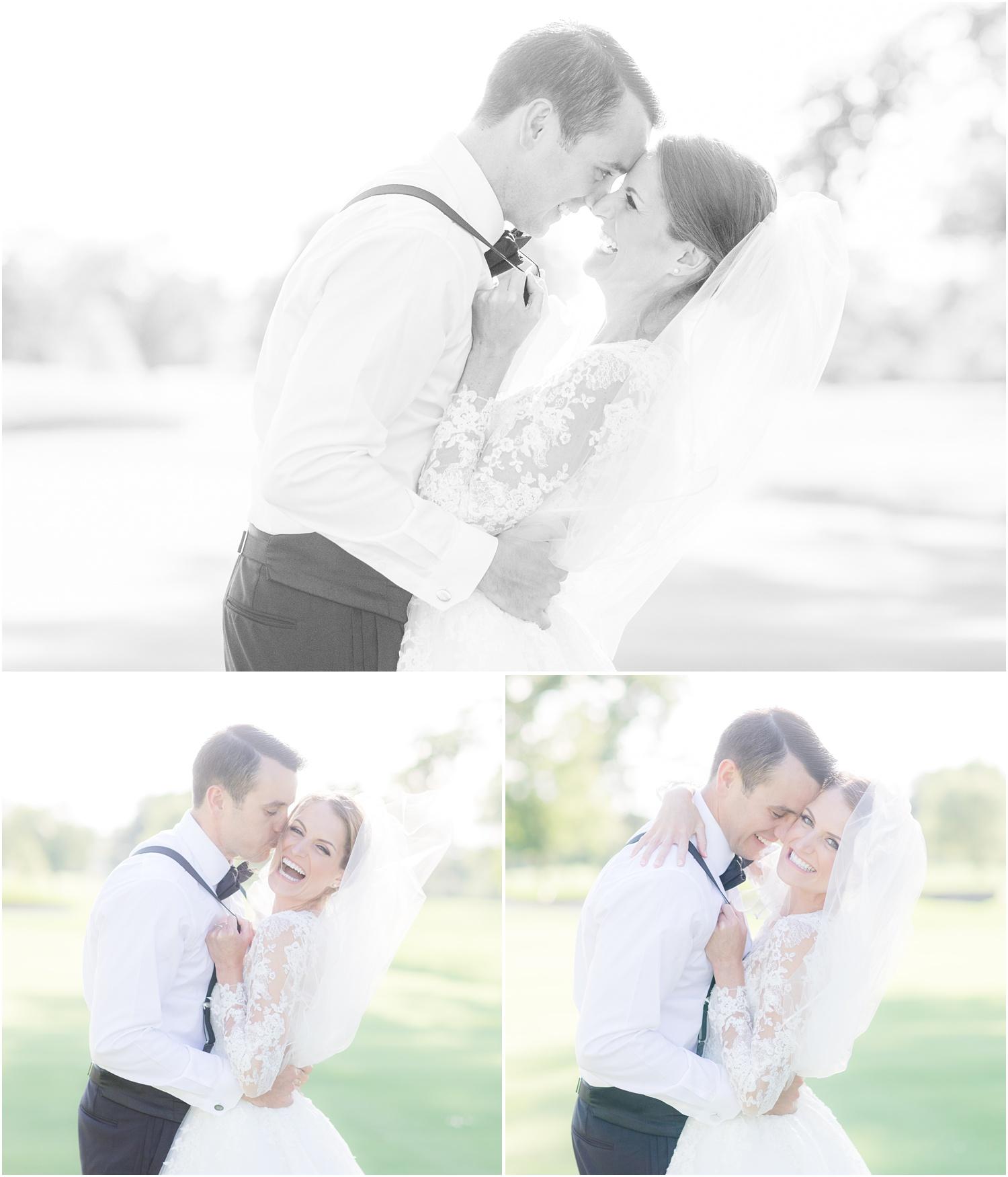 fun and romantic wedding photos at Canoe Brook Country Club