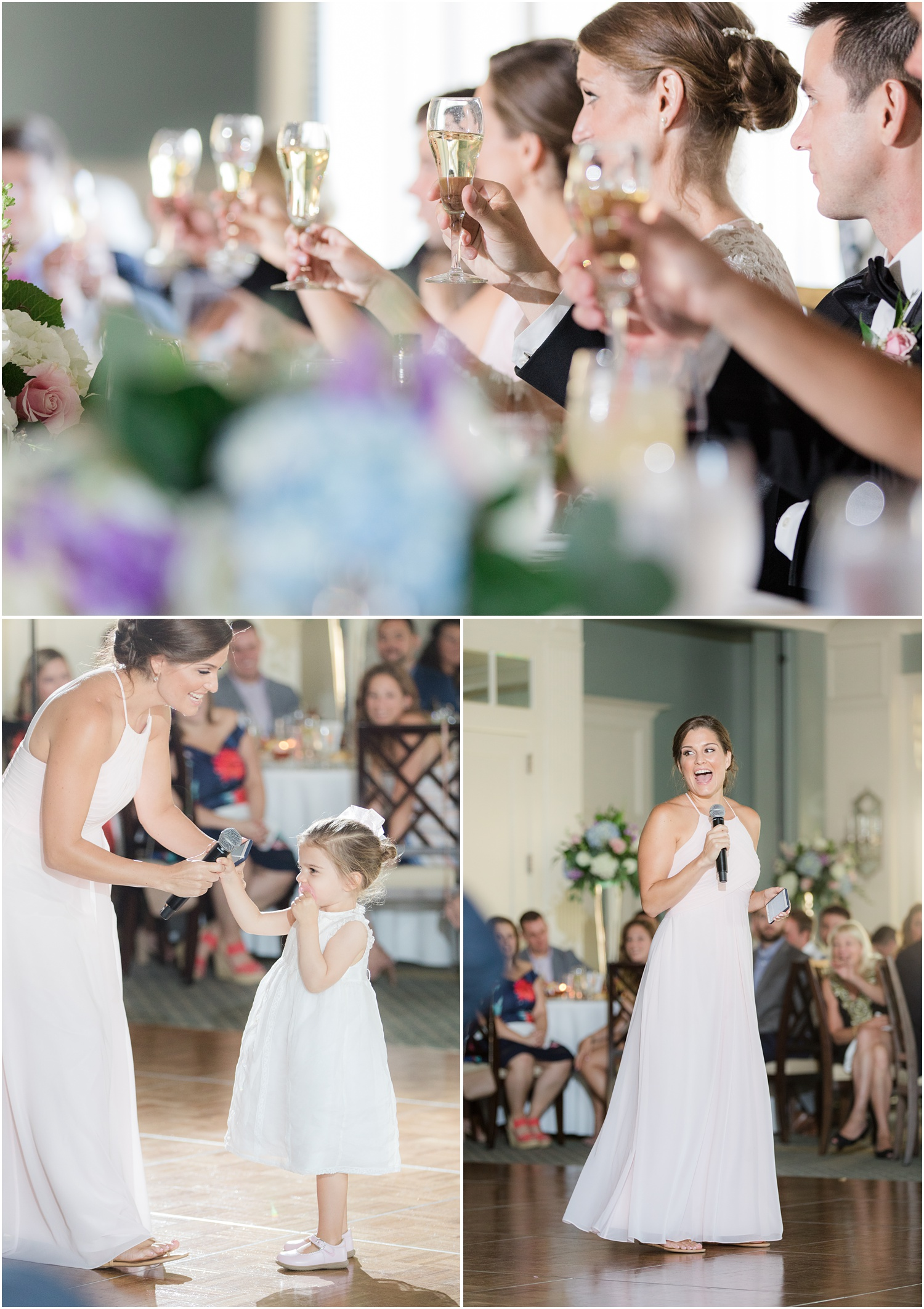 Maid of honor speech at Canoe Brook Country Club in Summit, NJ.