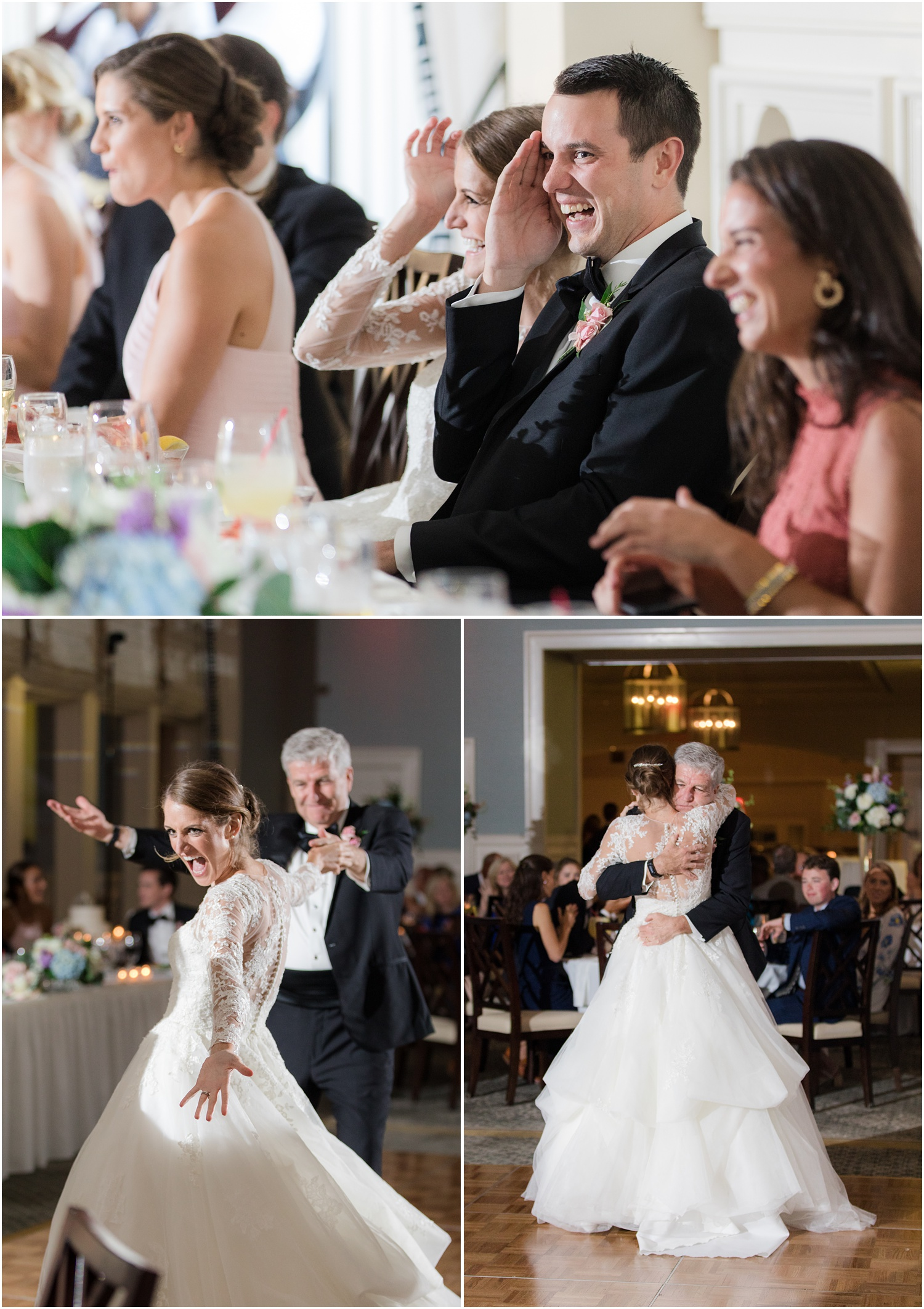 Father daughter dance at Canoe brook country club wedding reception.