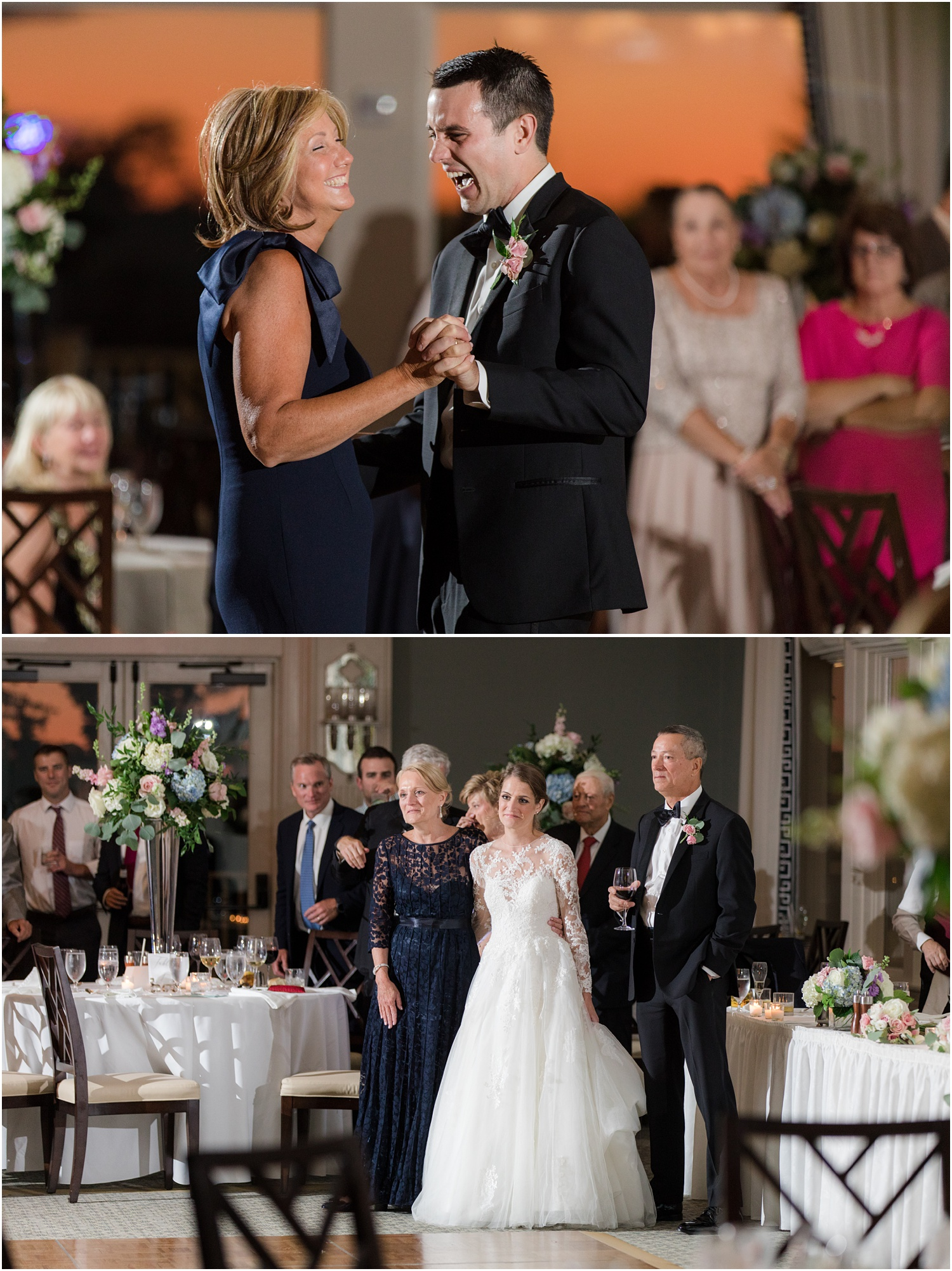 parent dances at Canoe brook country club wedding reception.