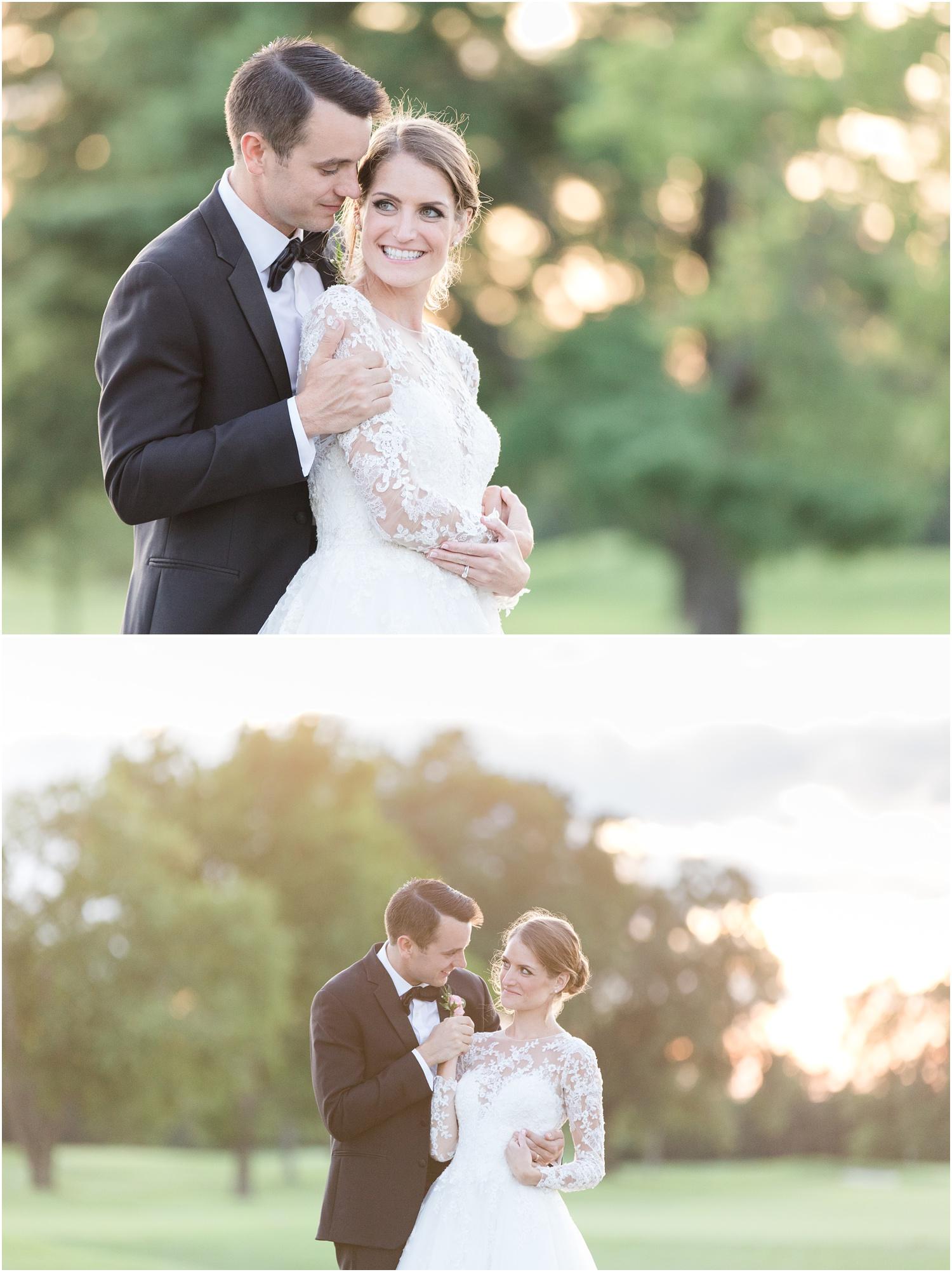Romantic Sunset wedding photos at Canoe Brook Country Club
