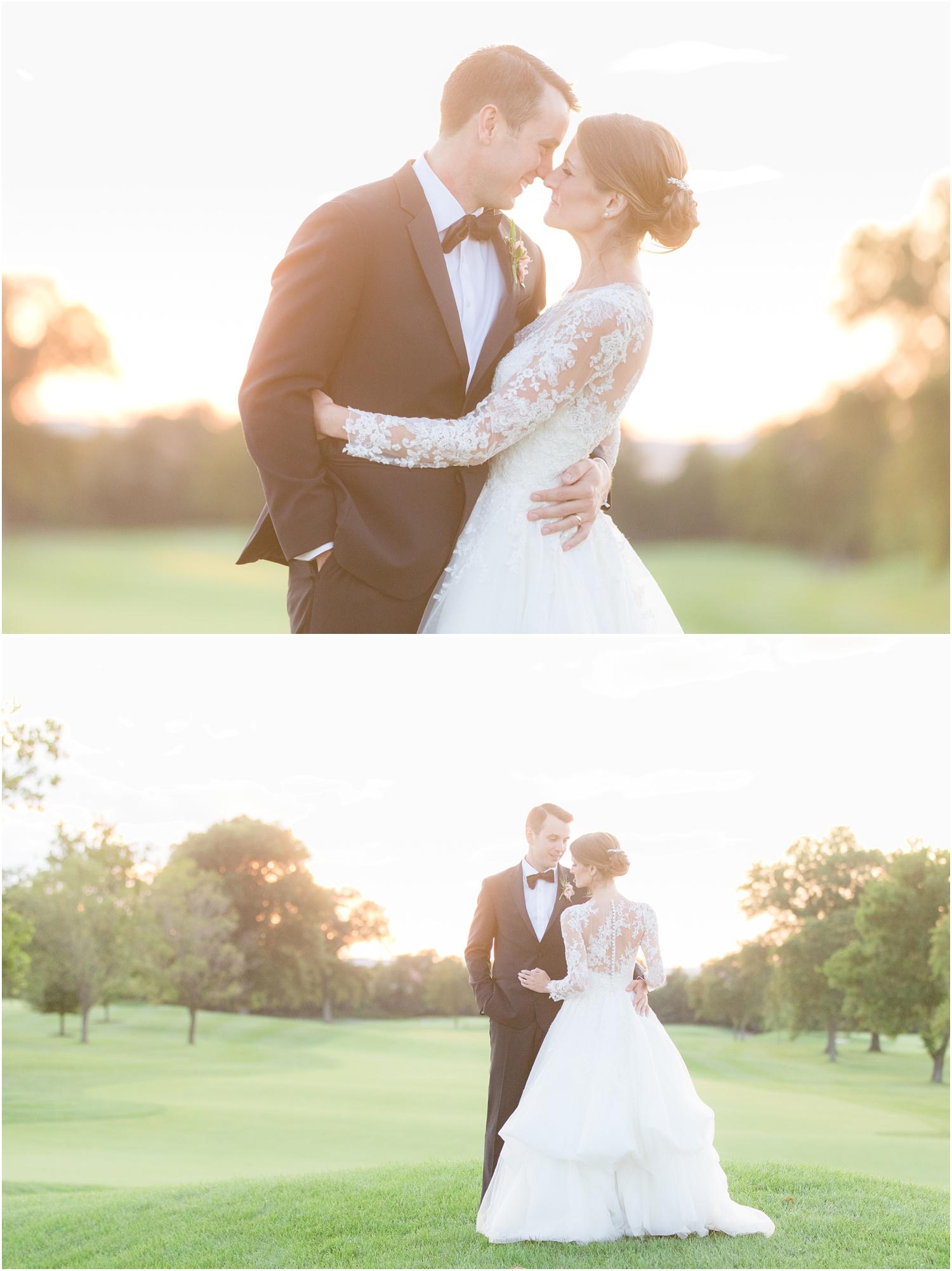 Intimate Sunset wedding photos at Canoe Brook Country Club