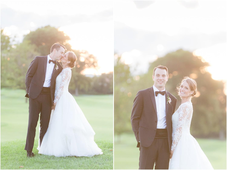 dreamy romantic Sunset wedding photos at Canoe Brook Country Club