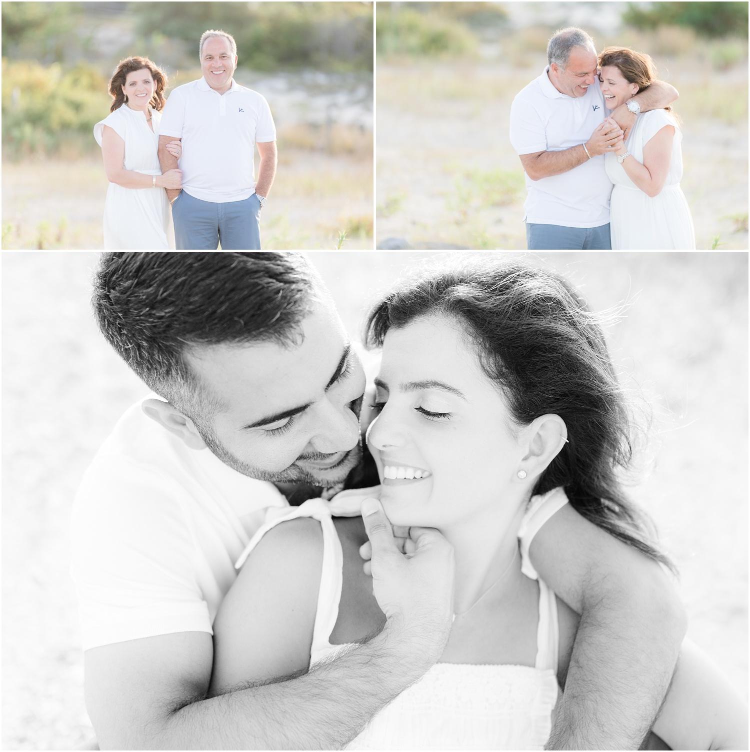 Romantic couples photos on the beach in LBI