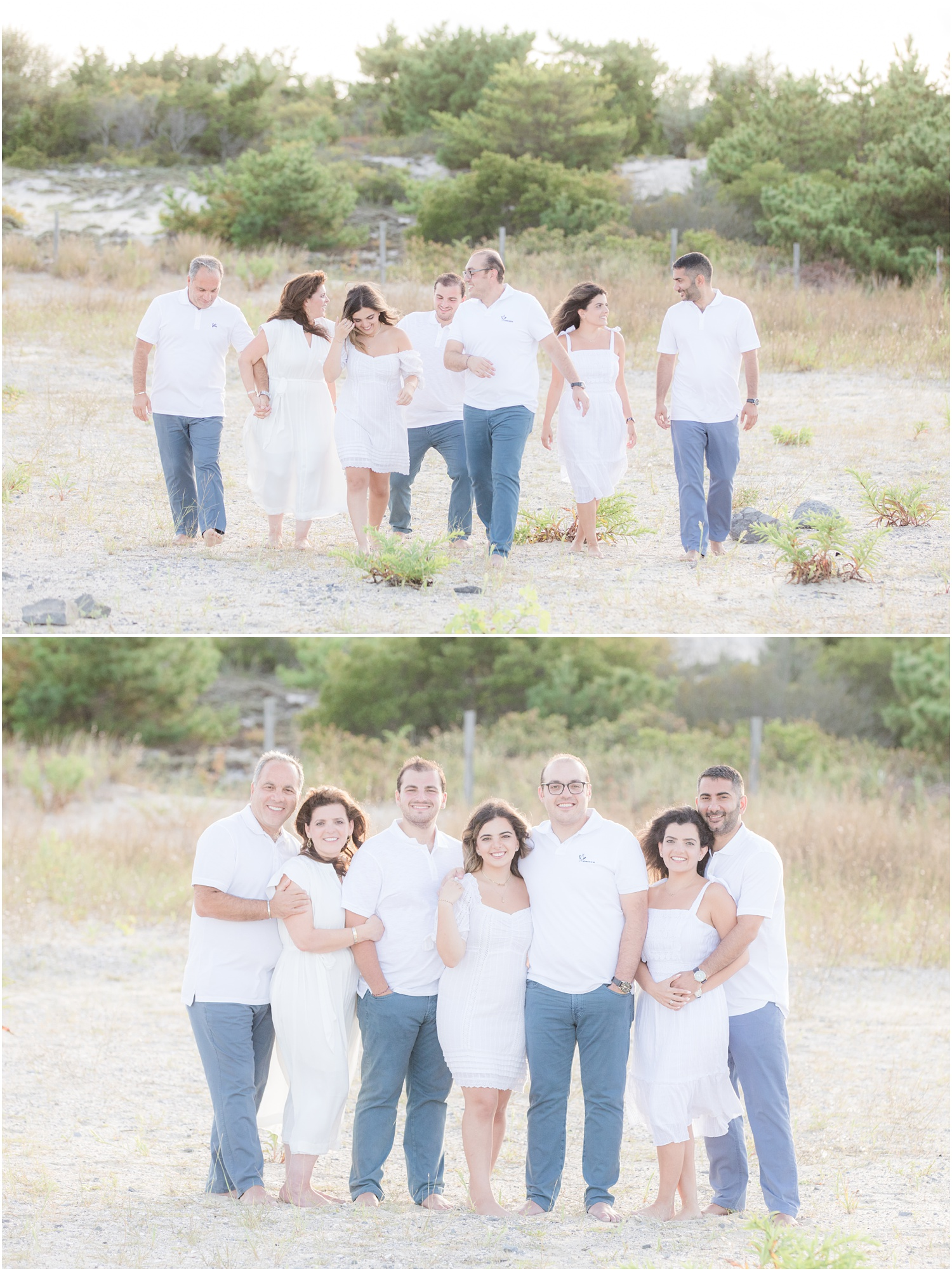 Family photos at Barnegat Light in LBI