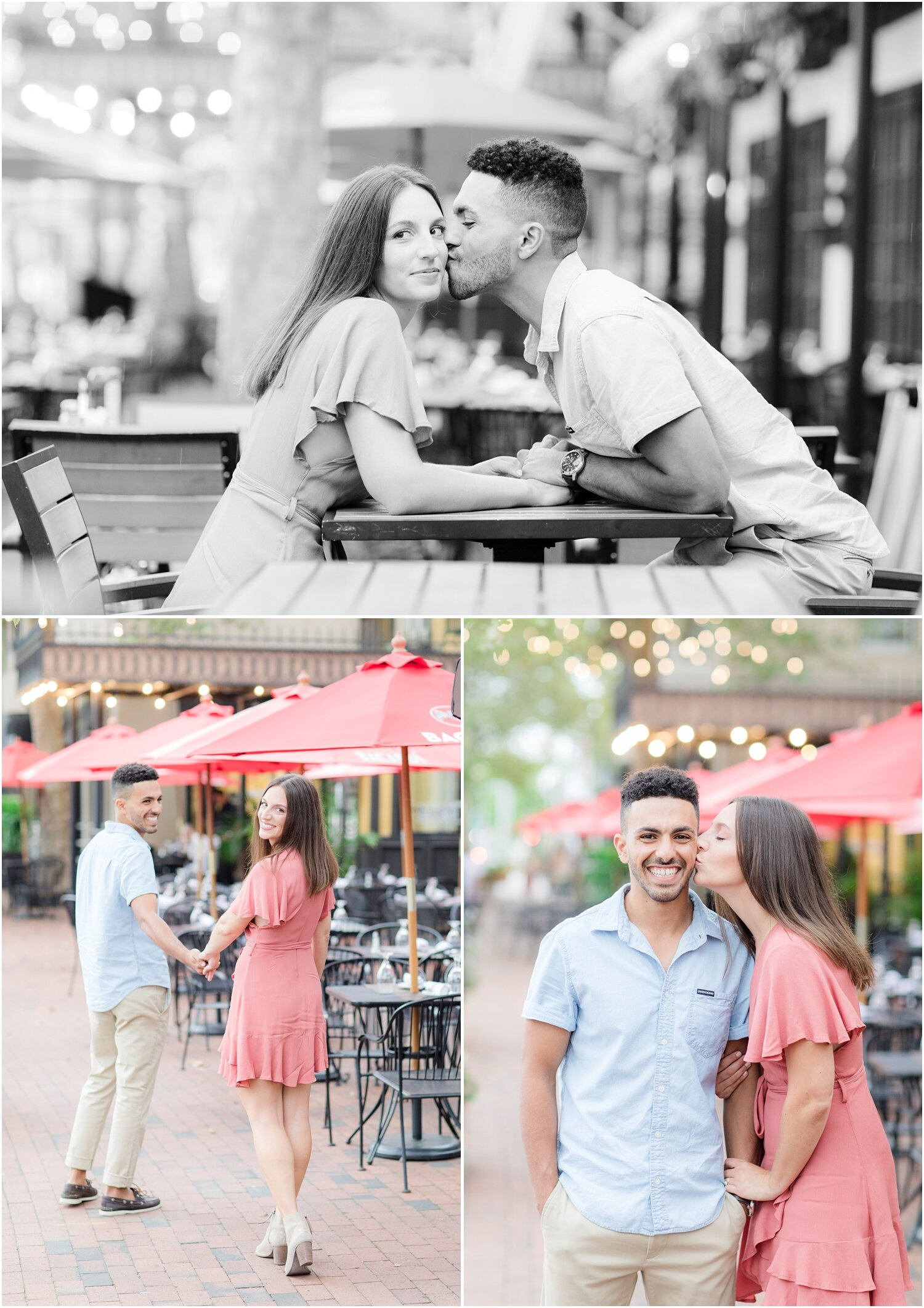 Engagement photos at The Court Jester in Freehold.