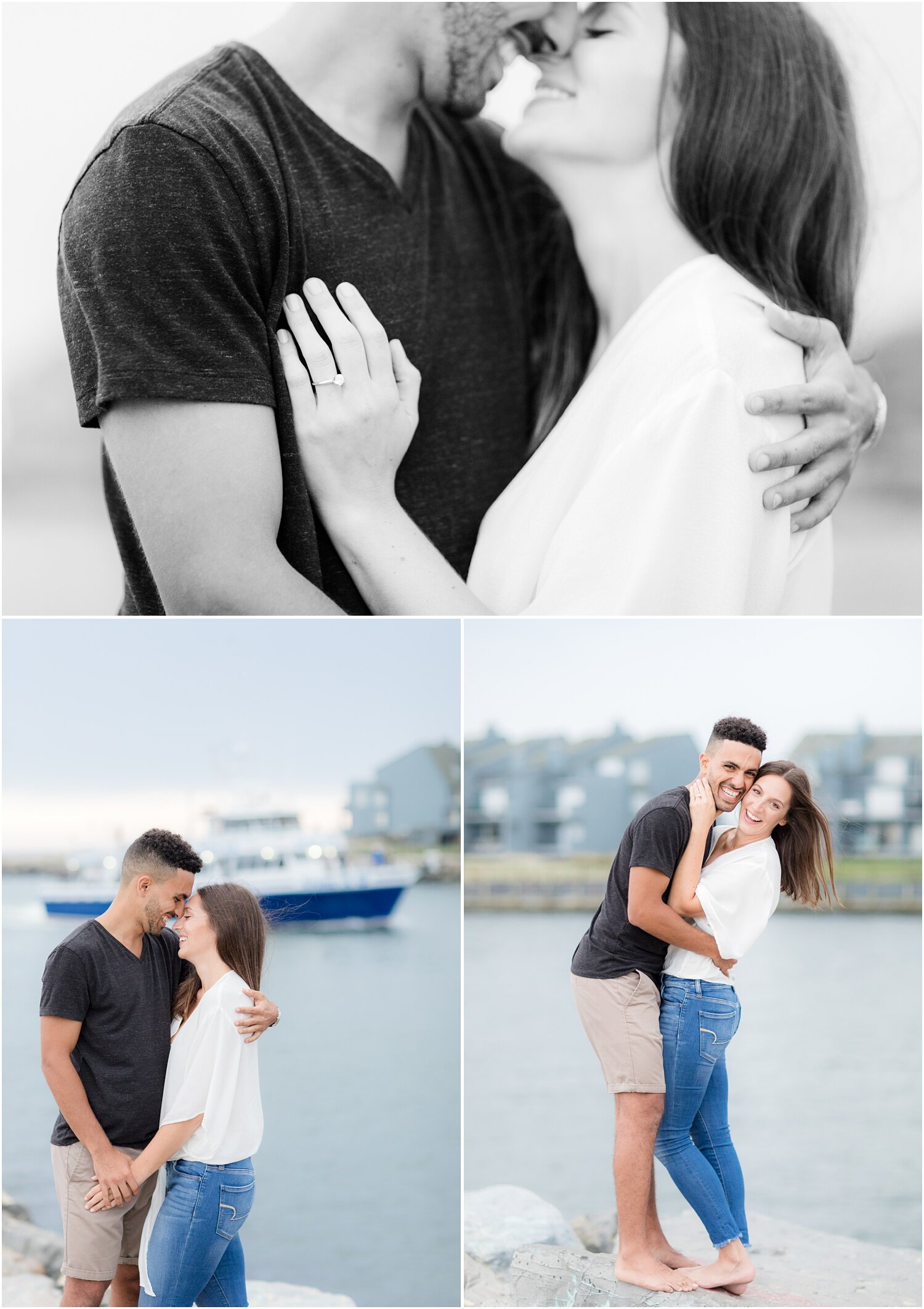 Engagement photos at the Manasquan inlet.