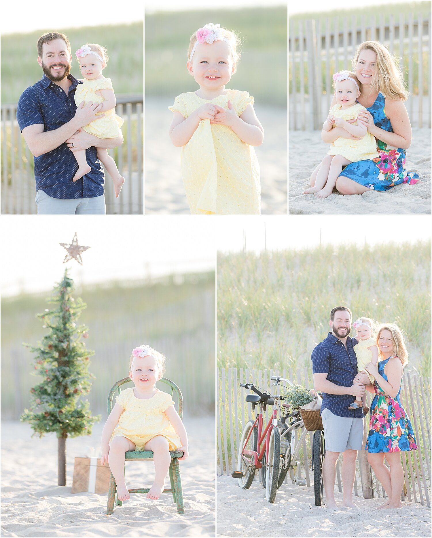 styled christmas on the beach family photo