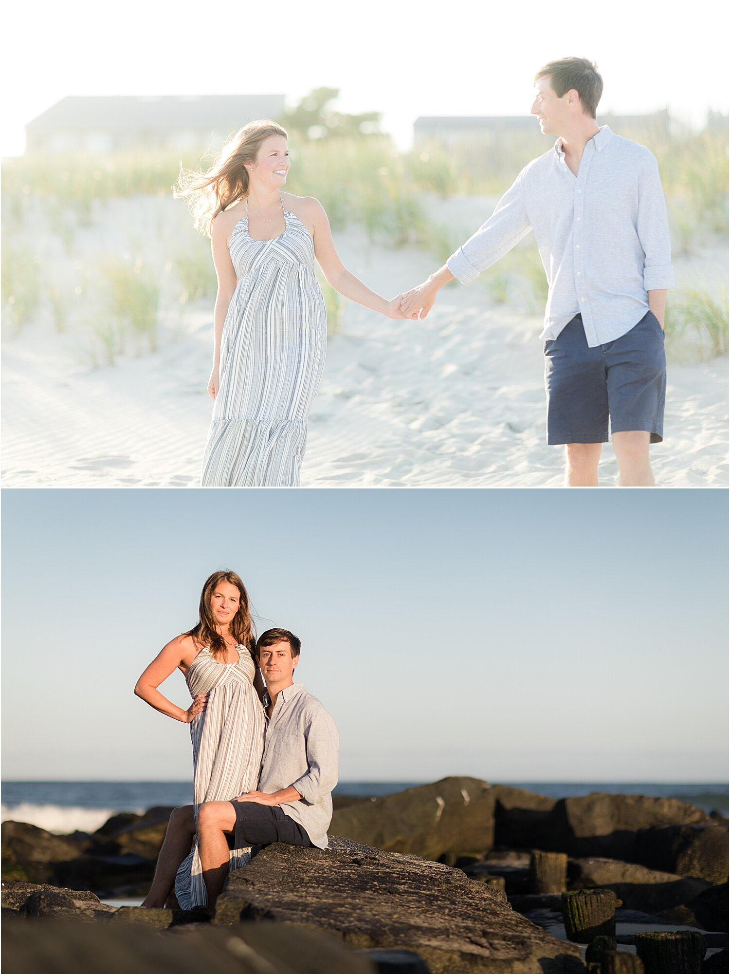 fun engagement photos in LBI