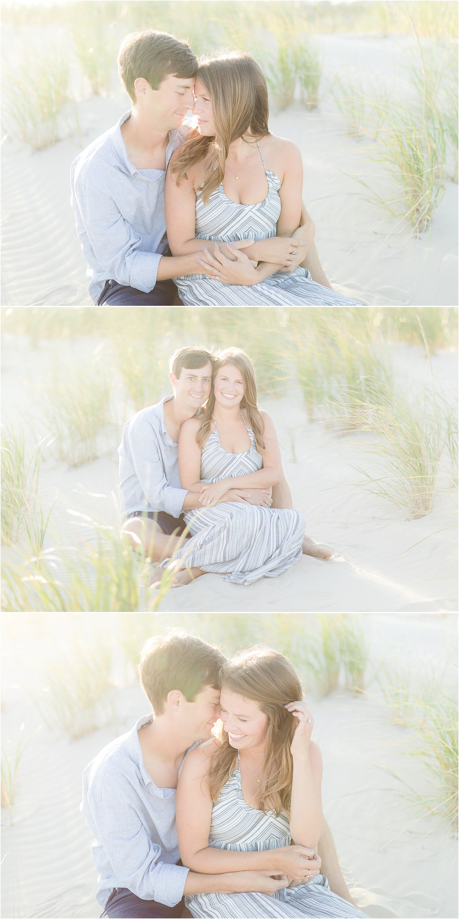 romantic engagement pictures in natural light LBI