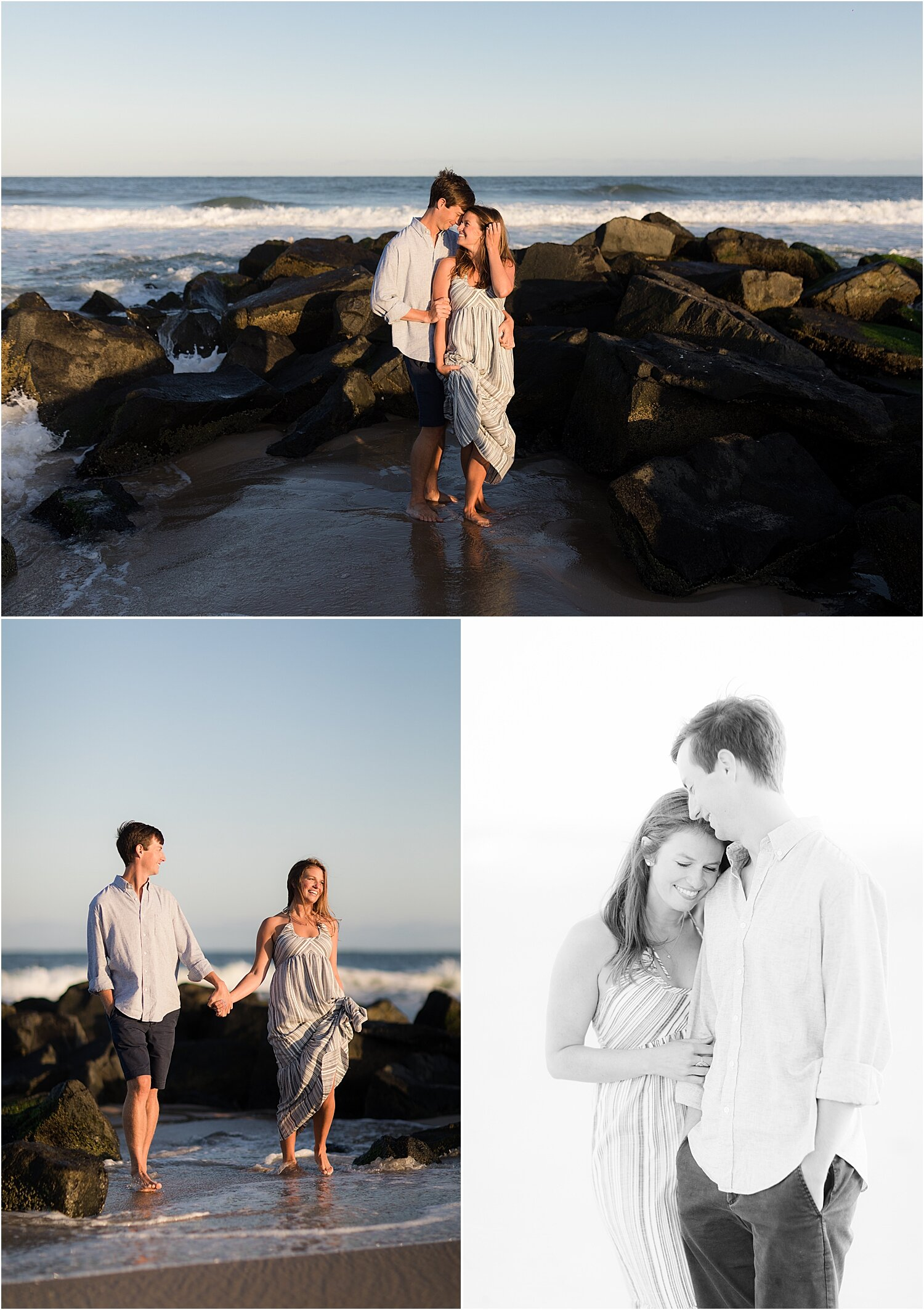 LBI engagement photos near jetty
