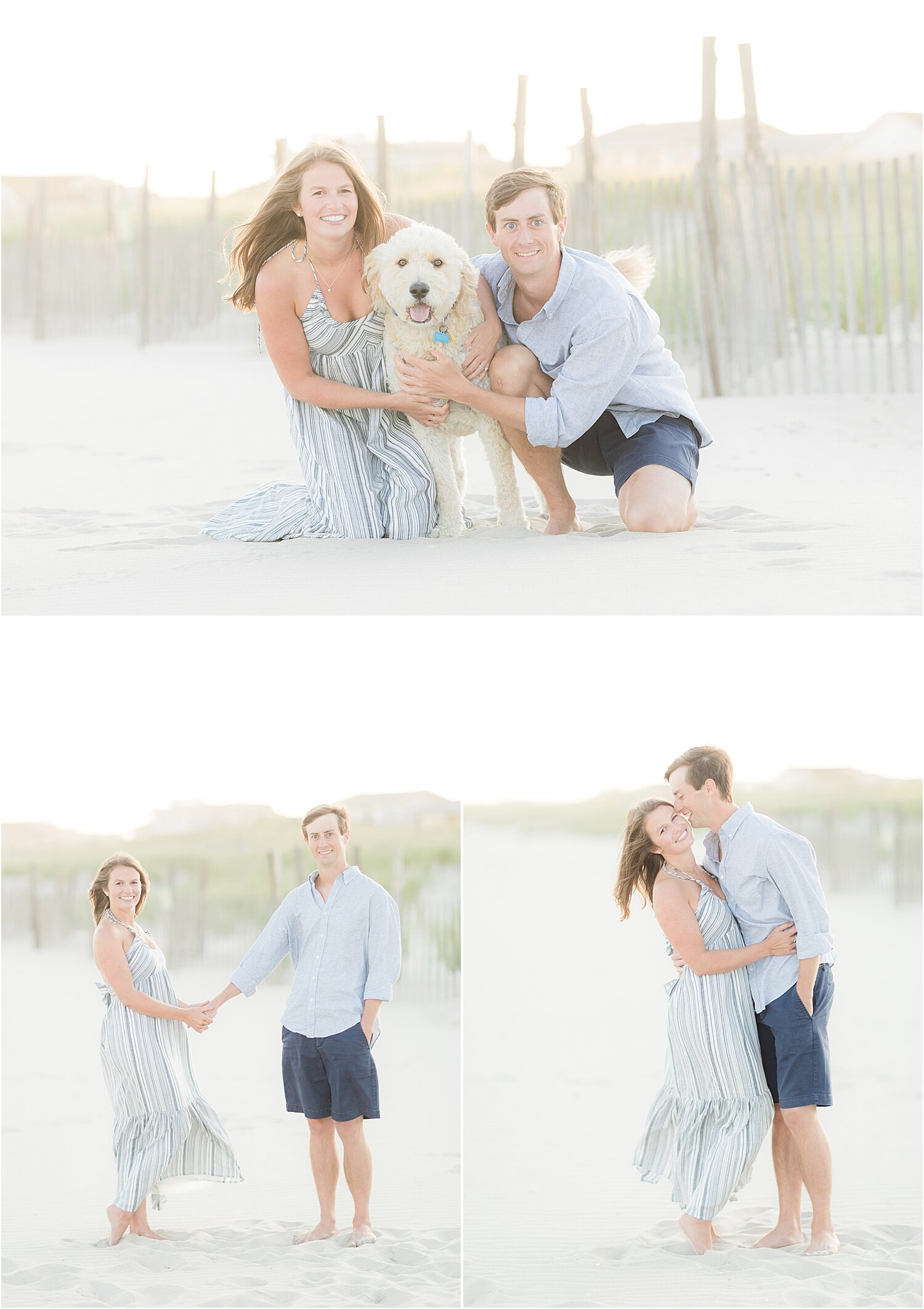 engagement photos in beach haven nj with a dog