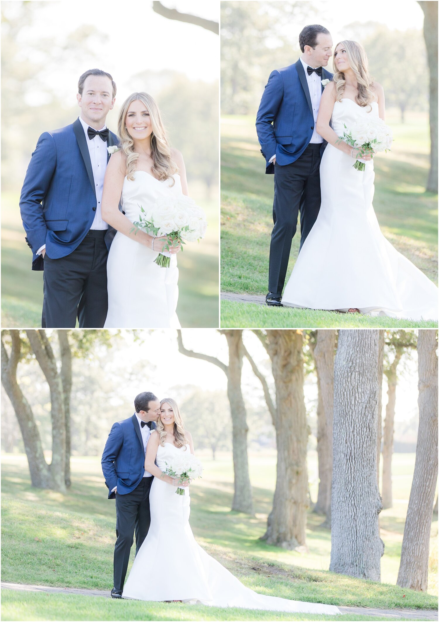 Romantic wedding photos at Spring Lake Golf Club.