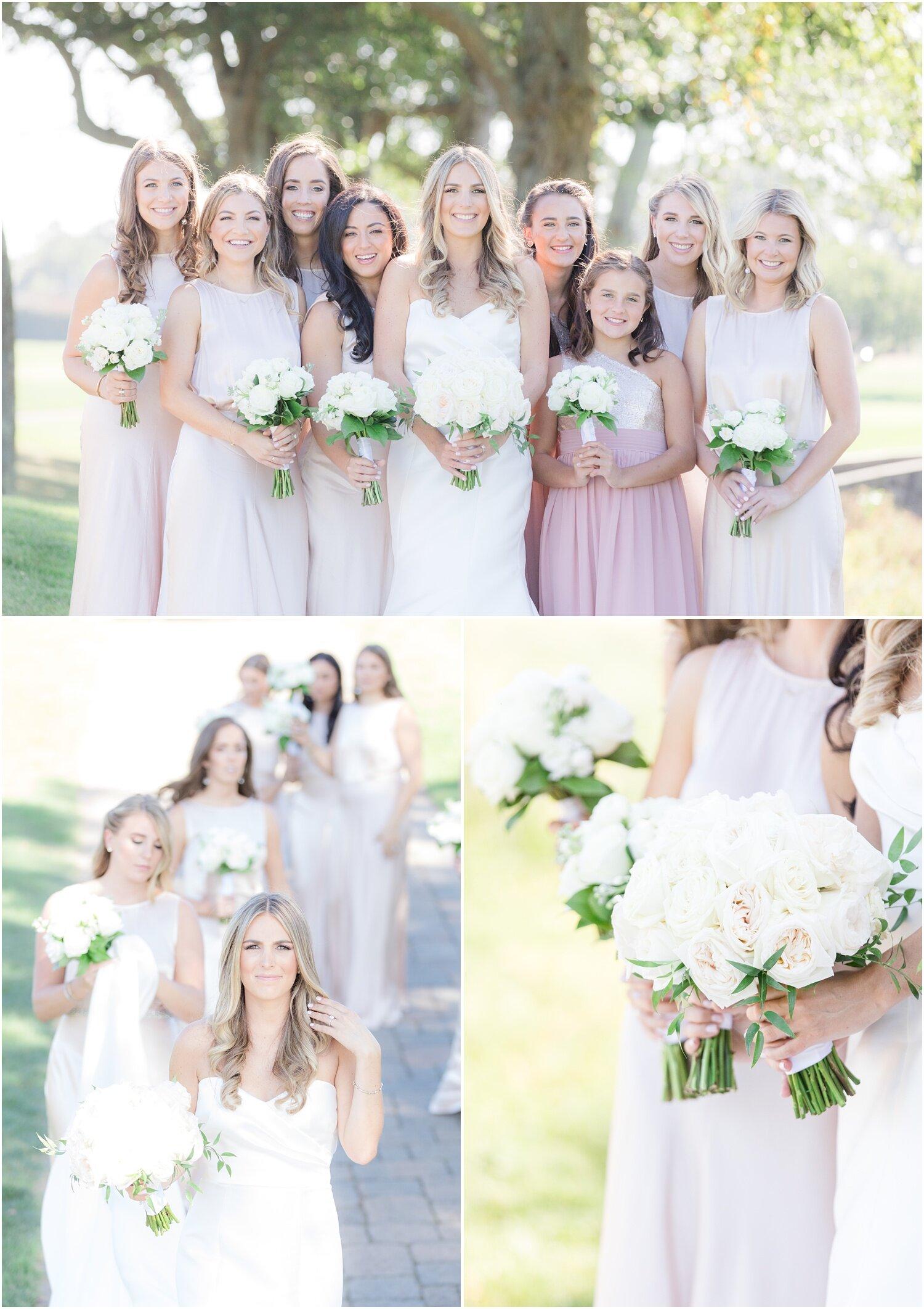 Bridesmaid photos at Spring Lake Golf Club