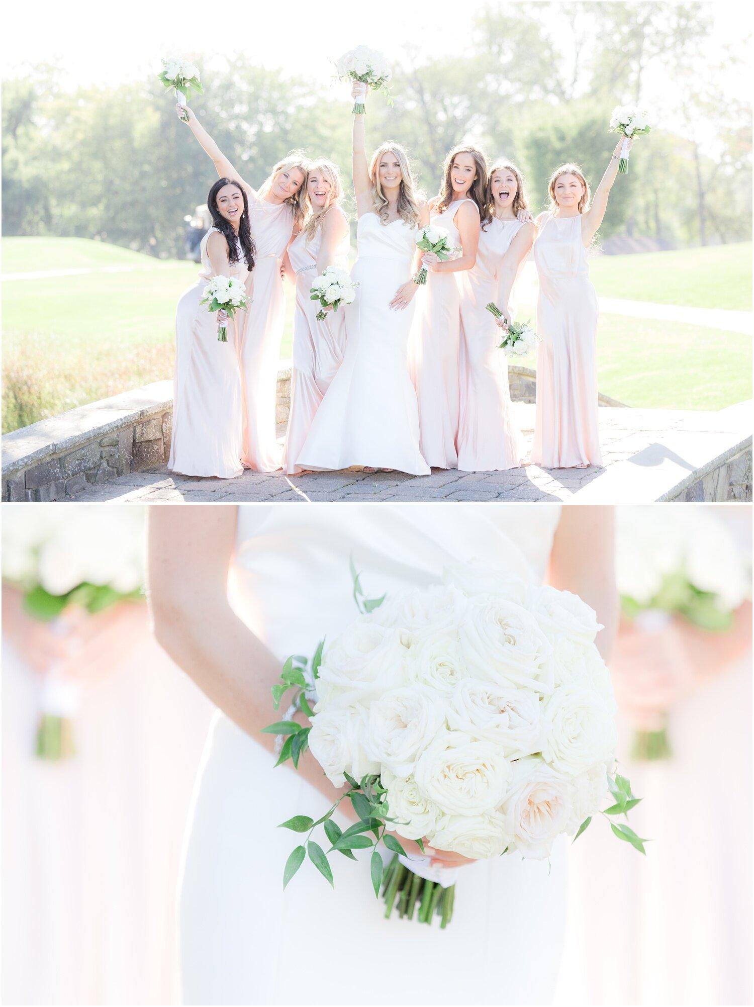 Fun bridesmaid photos at Spring Lake Golf Club wedding.