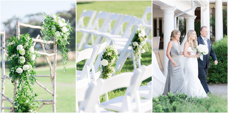 Birch arbor for wedding ceremony and ceremony decor.