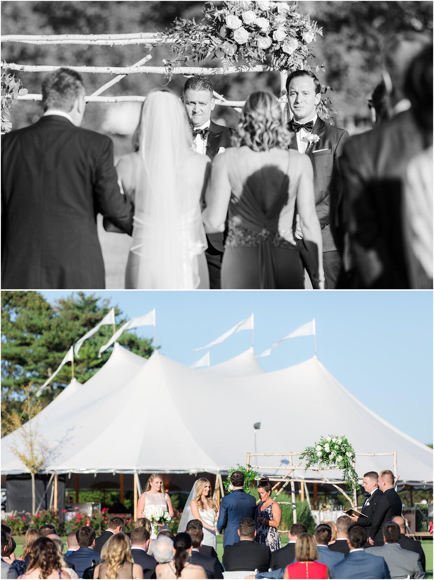 Wedding cermony at Spring Lake Golf Club