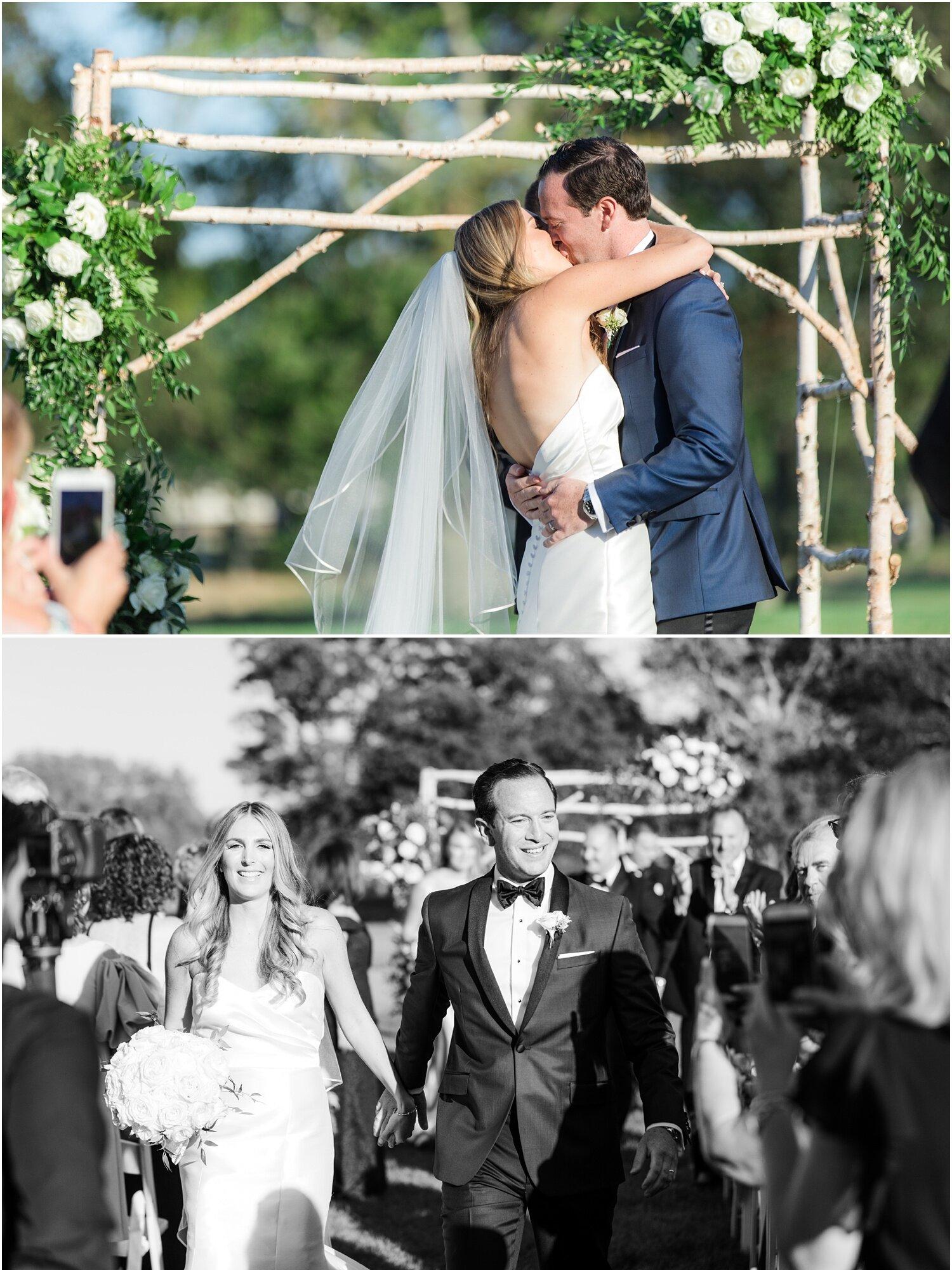 Wedding ceremony exit at Spring Lake Golf Club