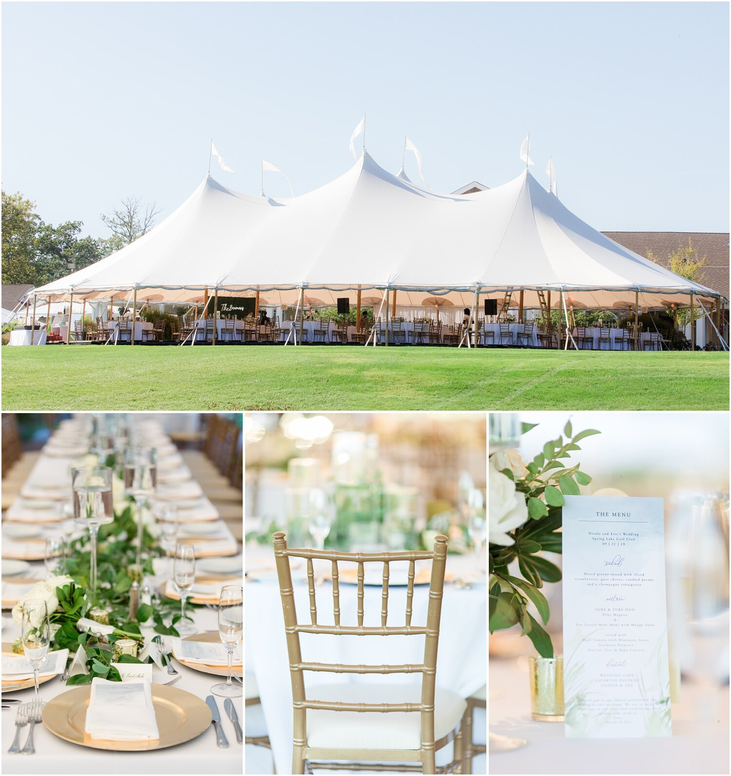 Tented Wedding reception decor.