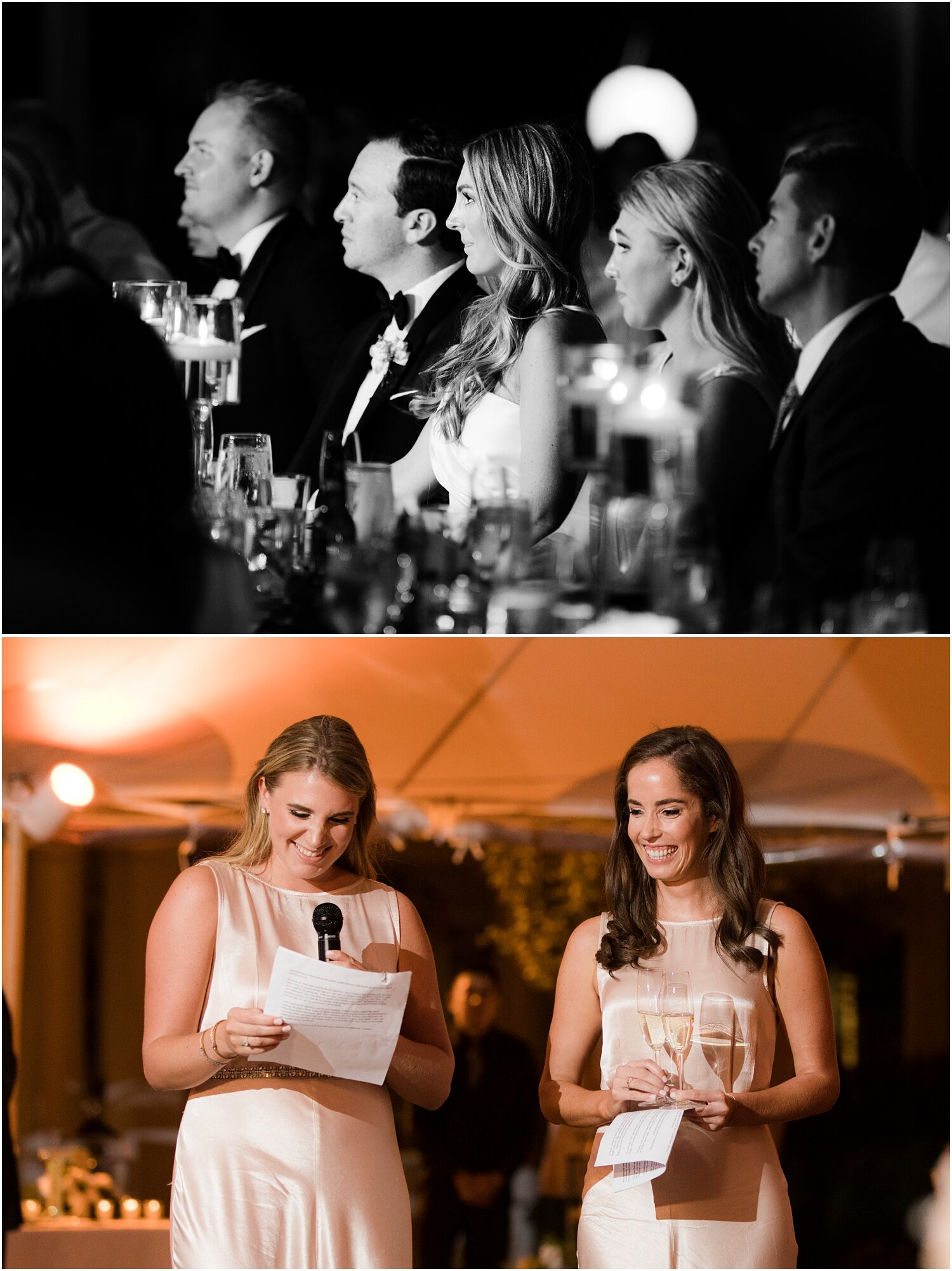 maid of honor and best man speeches for Spring Lake Golf club wedding.