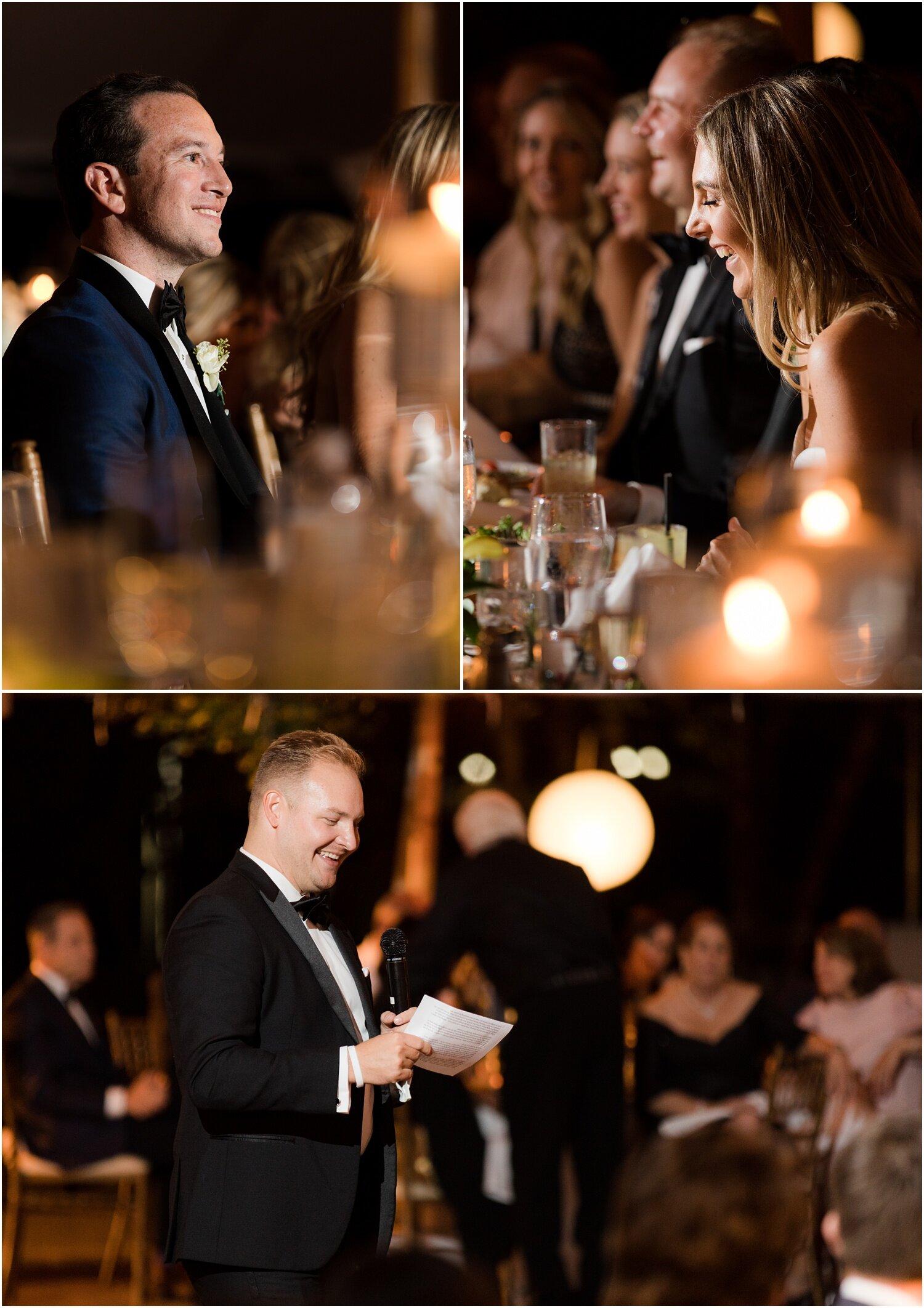 speeches at Spring Lake Golf club wedding.