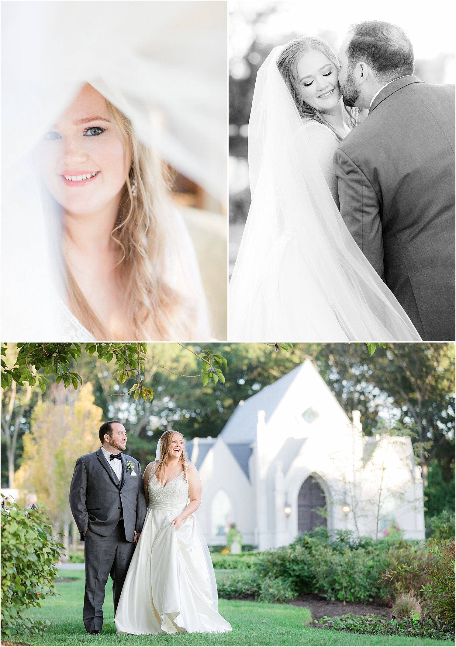 romantic bride and groom photos at park chateau
