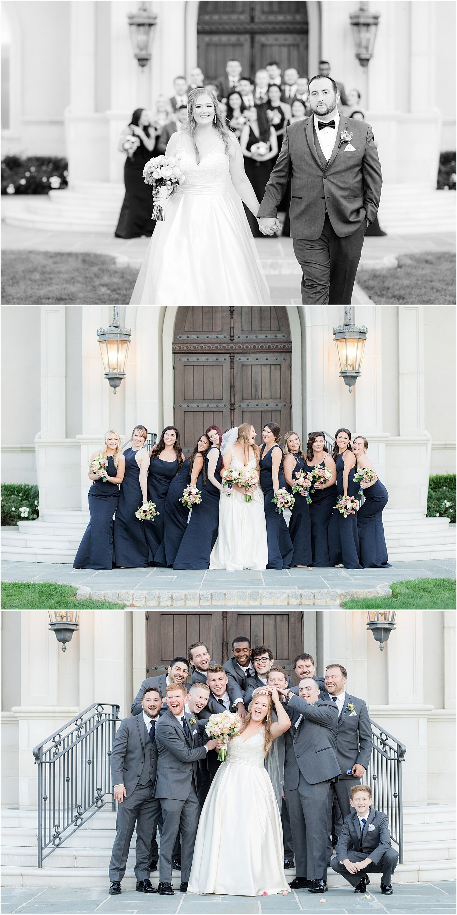 fun wedding party photos at park chateau