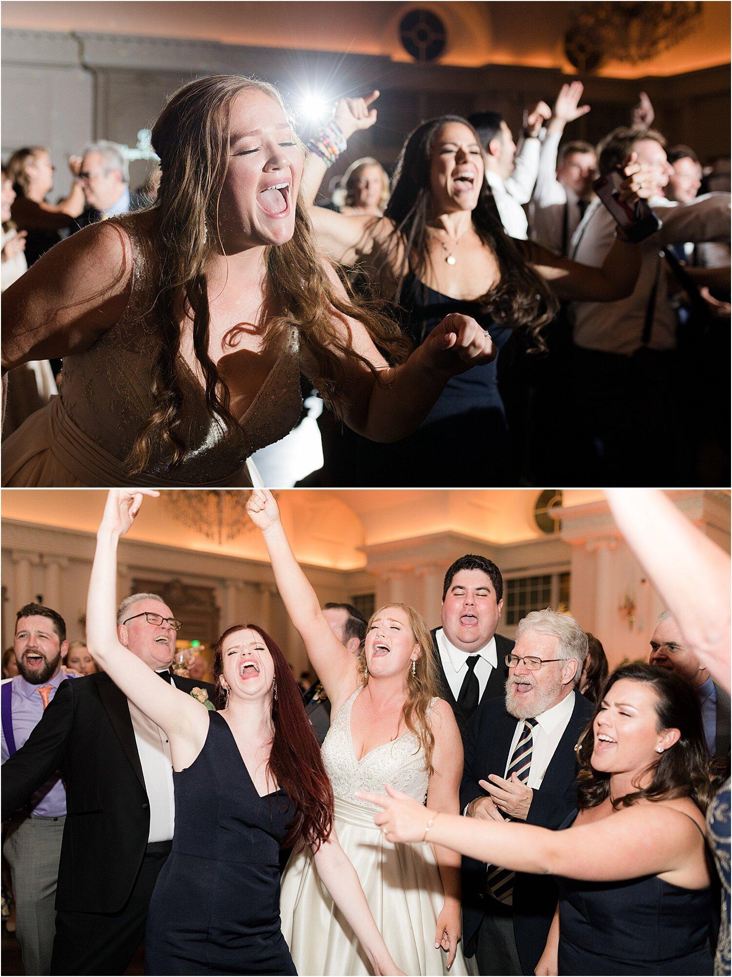 fun reception dancing at park chateau