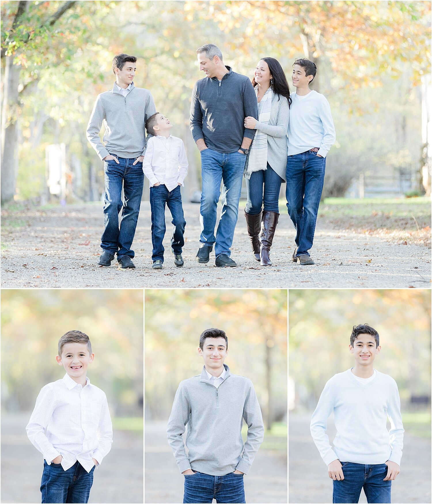 fall family photo at historic village of allaire