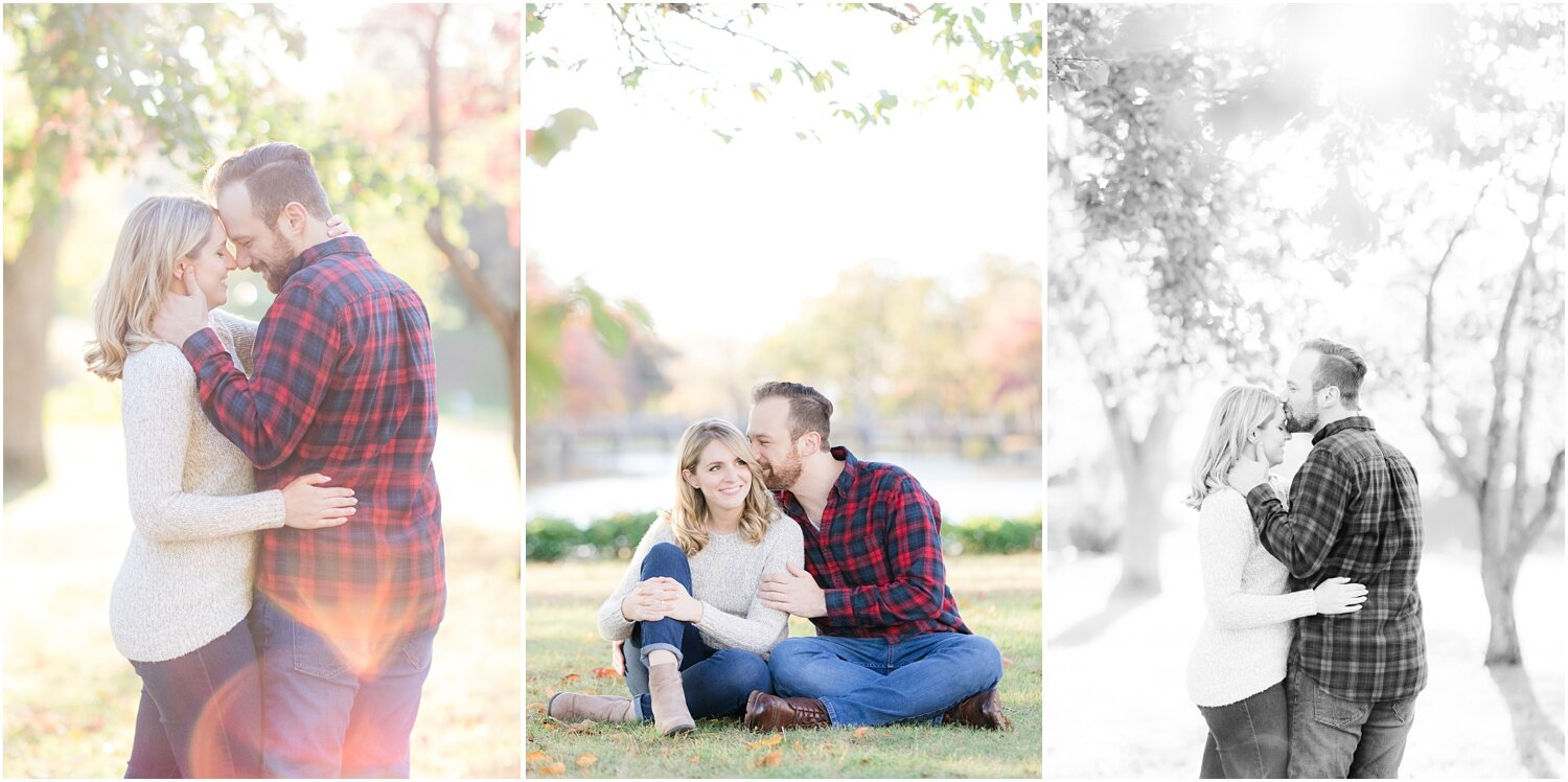 Romantic engagement photos in Spring Lake, NJ.