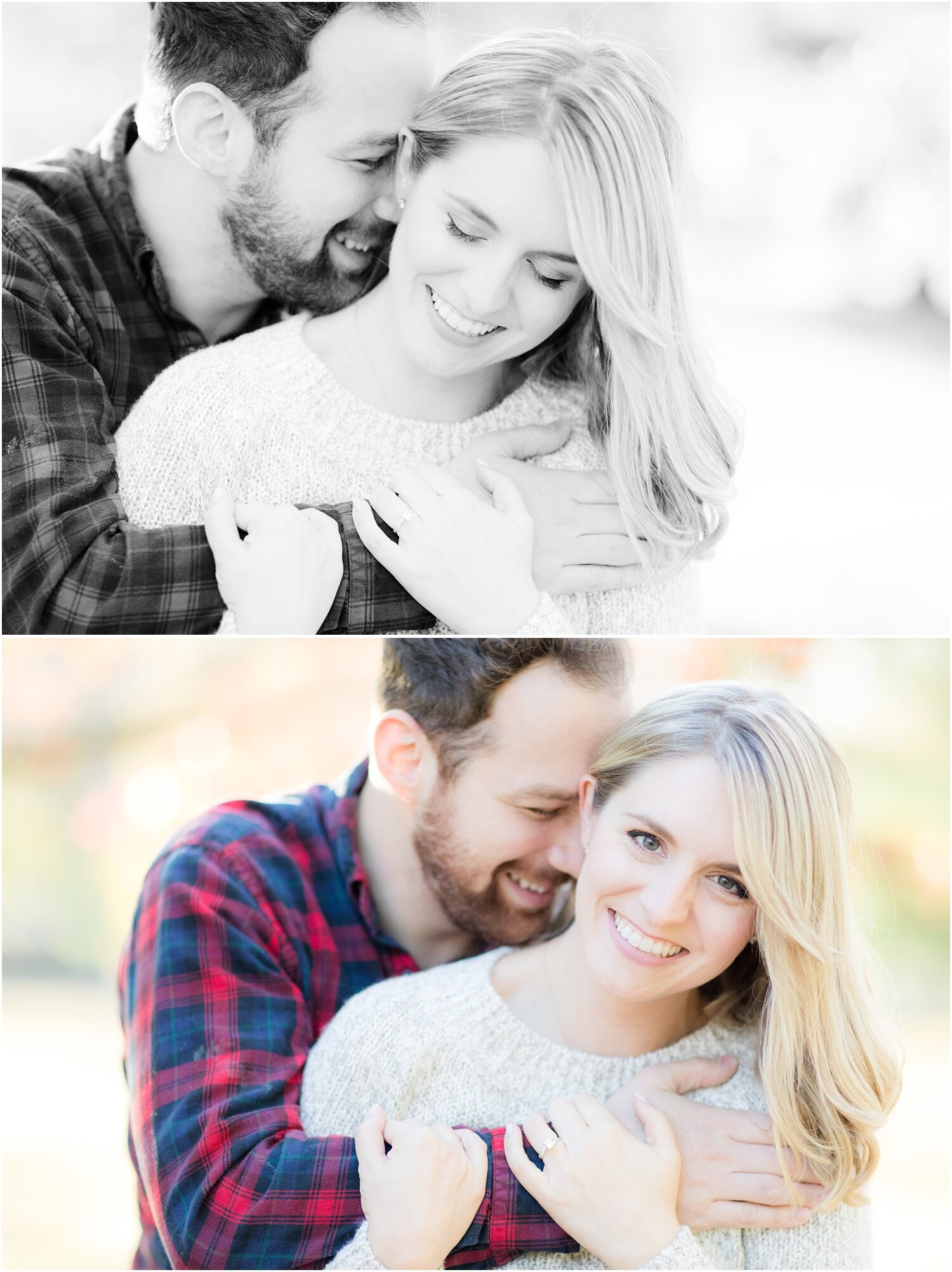 Romantic fall engagement in Spring Lake, NJ.