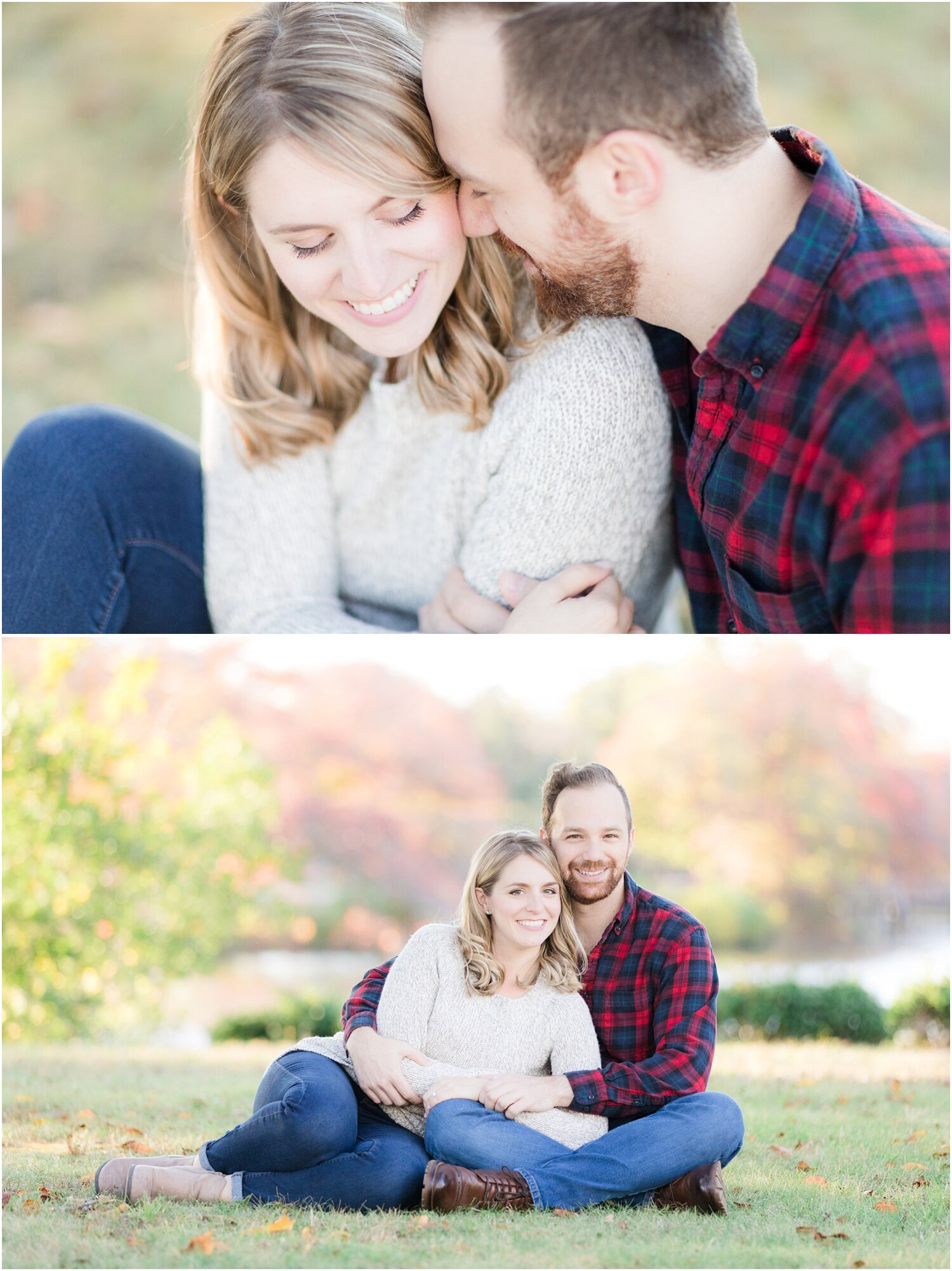 Couples fall photos in Spring Lake, NJ
