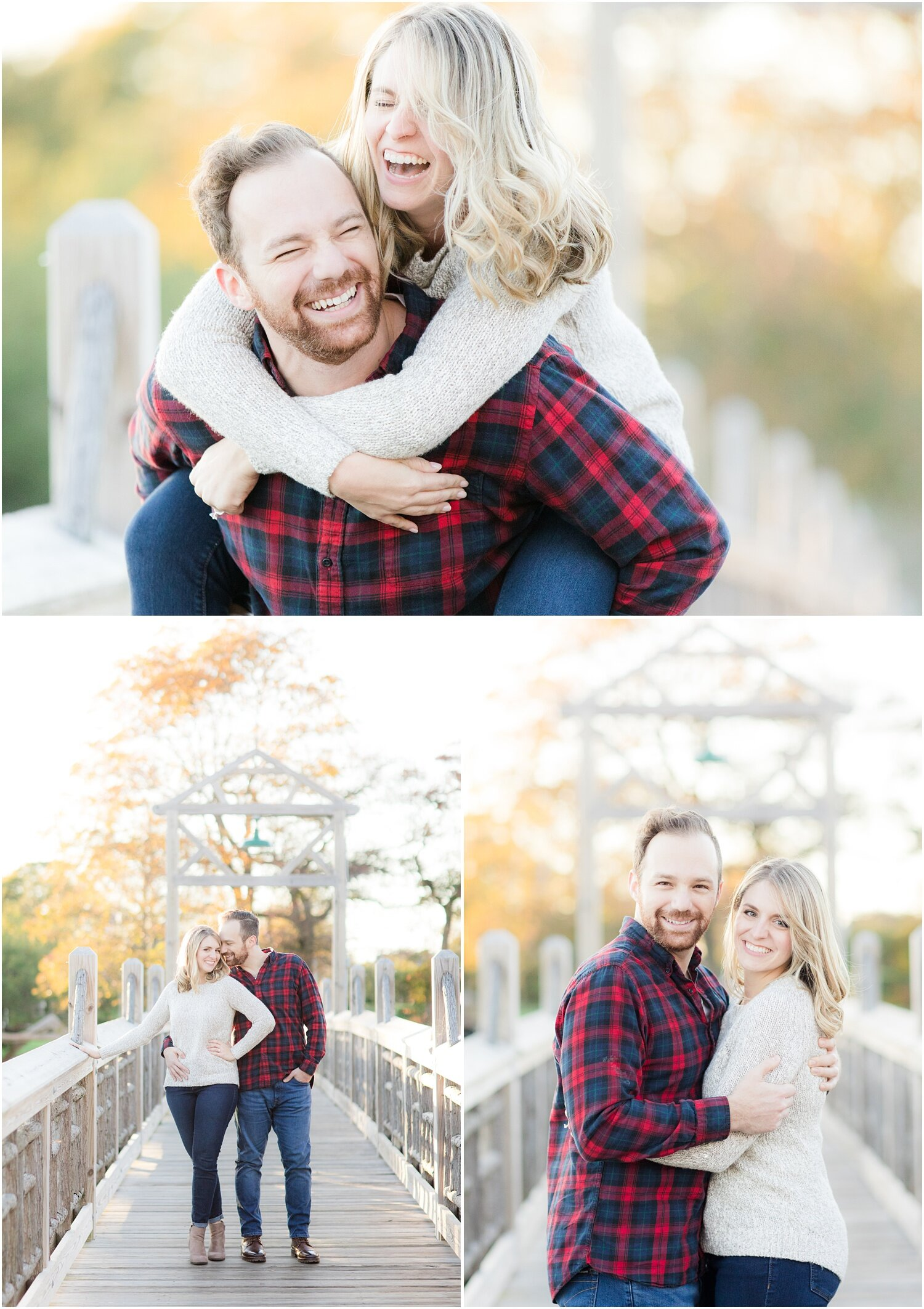 Fun engagement photos in spring lake, NJ.