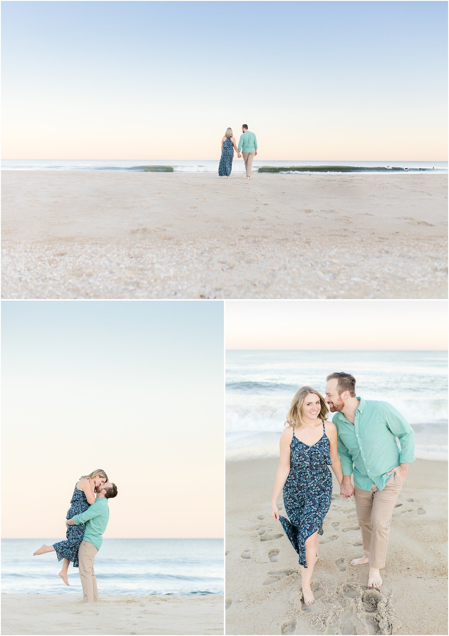 Fun beach engagement photos at the Jersey Shore.
