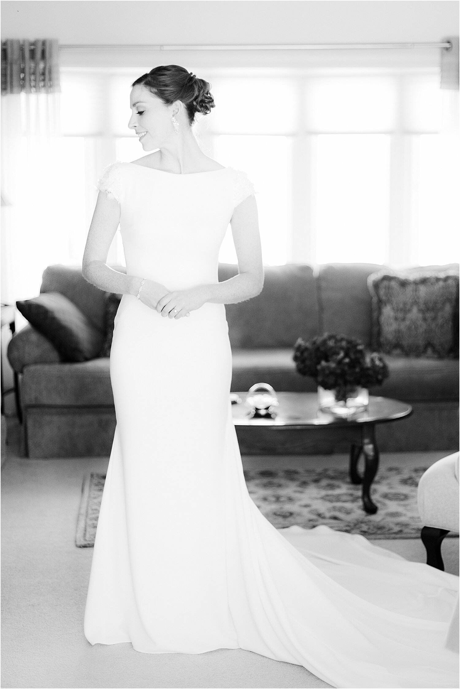 classic bride portrait at oyster point in red bank nj