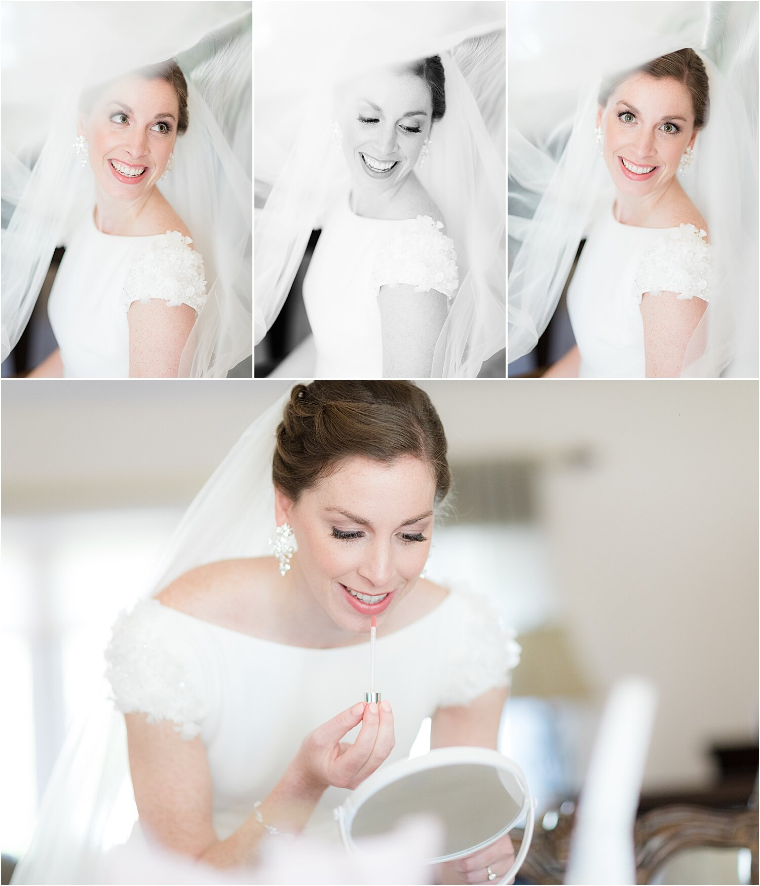 prettiest bridal portrait before bride gets married at oyster point in nj