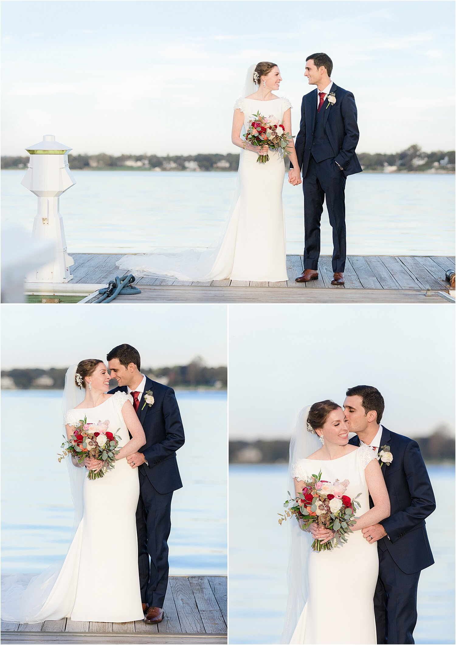 oyster point bride and groom photos