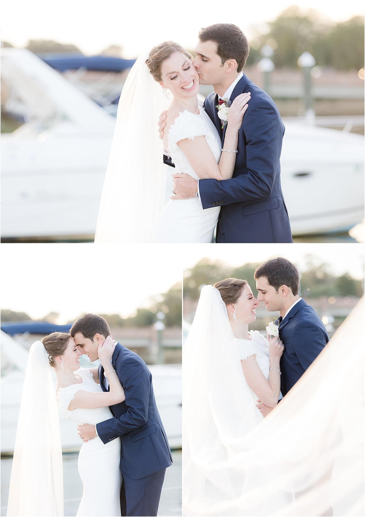 romantic sunset photo at oyster point hotel wedding