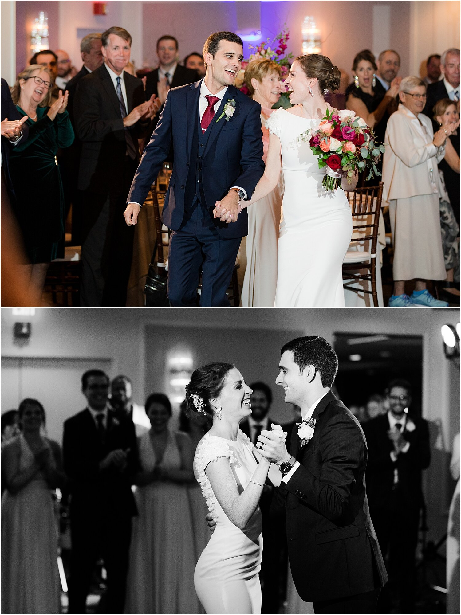 oyster point yacht club wedding photo