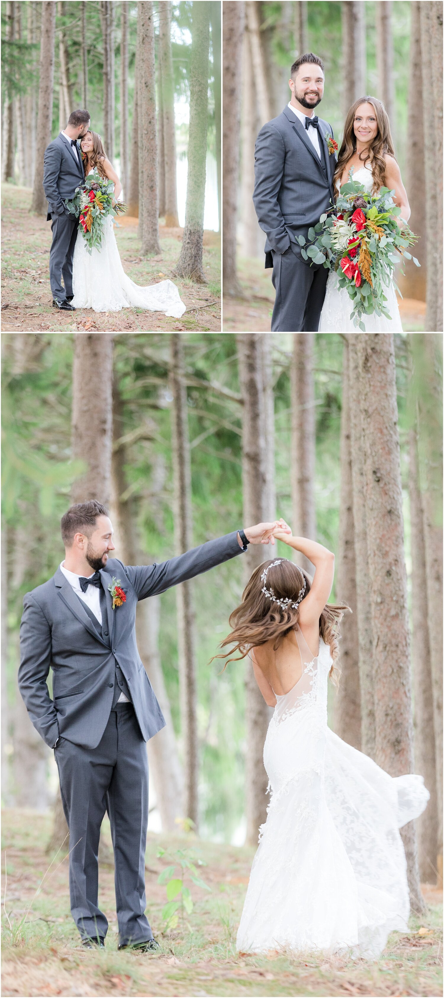 whimsical forrest wedding photos in New jersey.