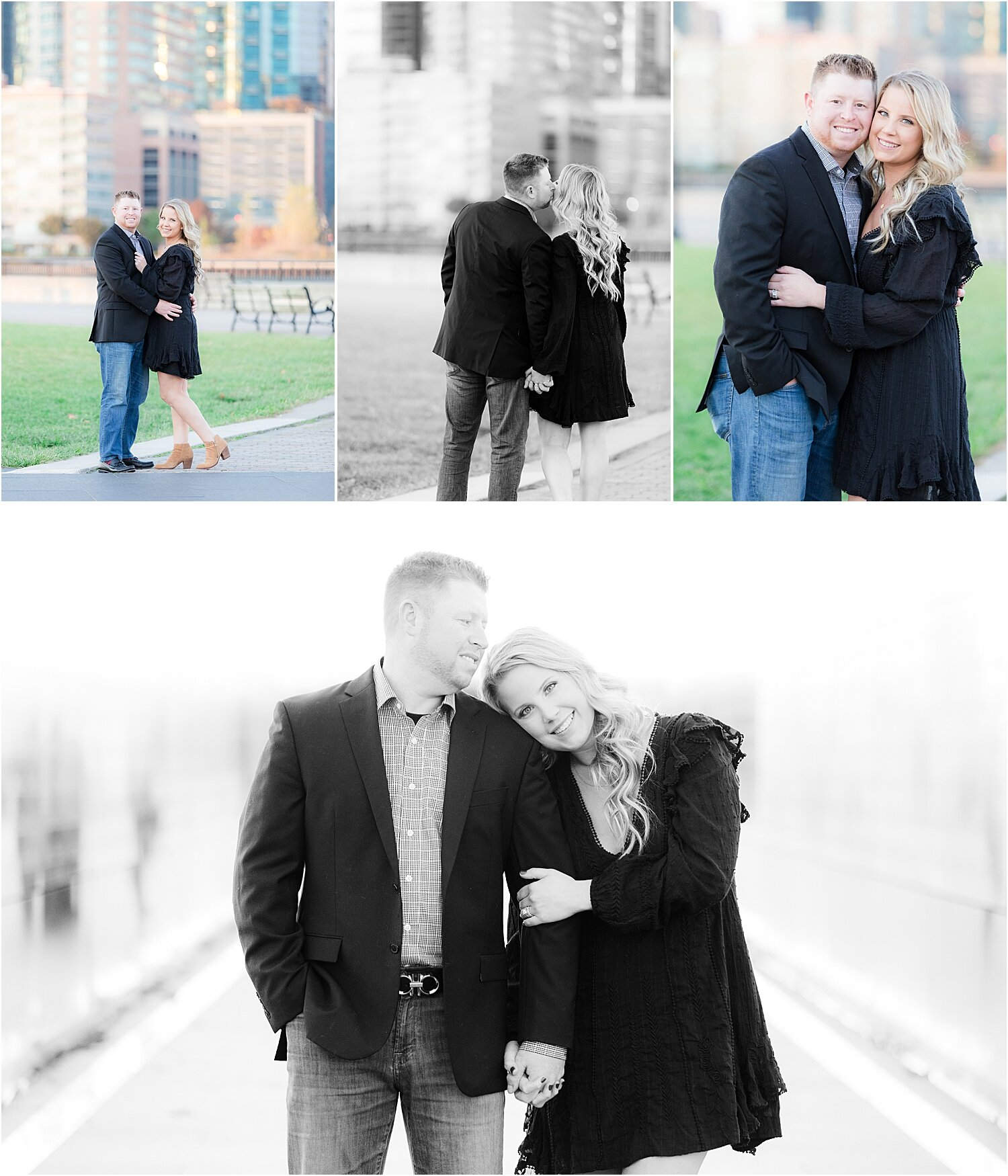romantic couples photo at liberty state park