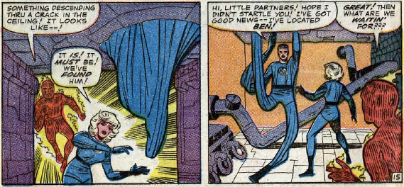Fantastic Four #30, page 15, panels 5-6