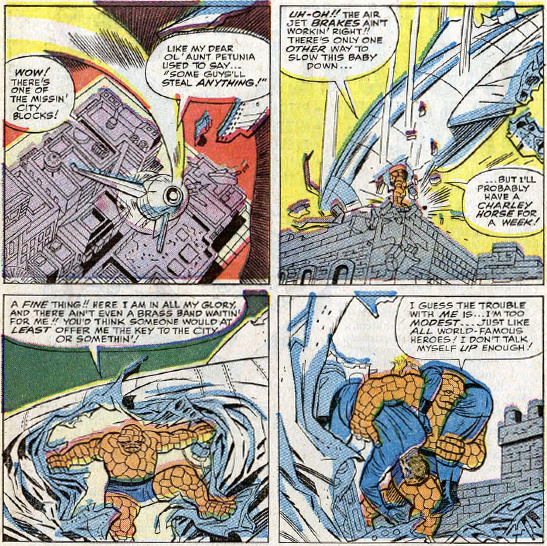 Fantastic Four #31, page 11, panels 1-4