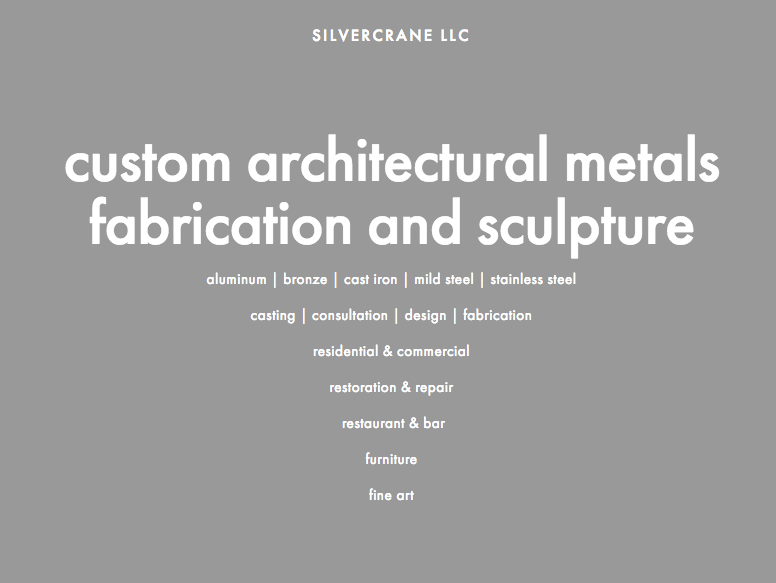 email for detailed quote: silvercranellc@gmail.com