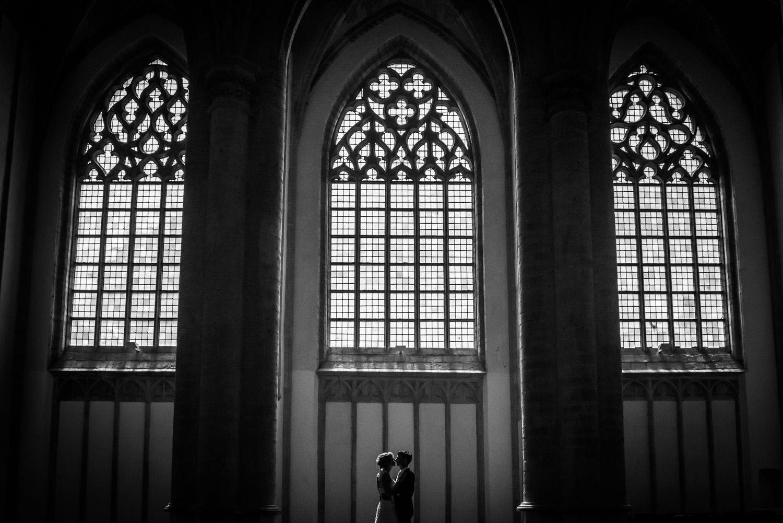 bruidsfotografie grote kerk Breda
