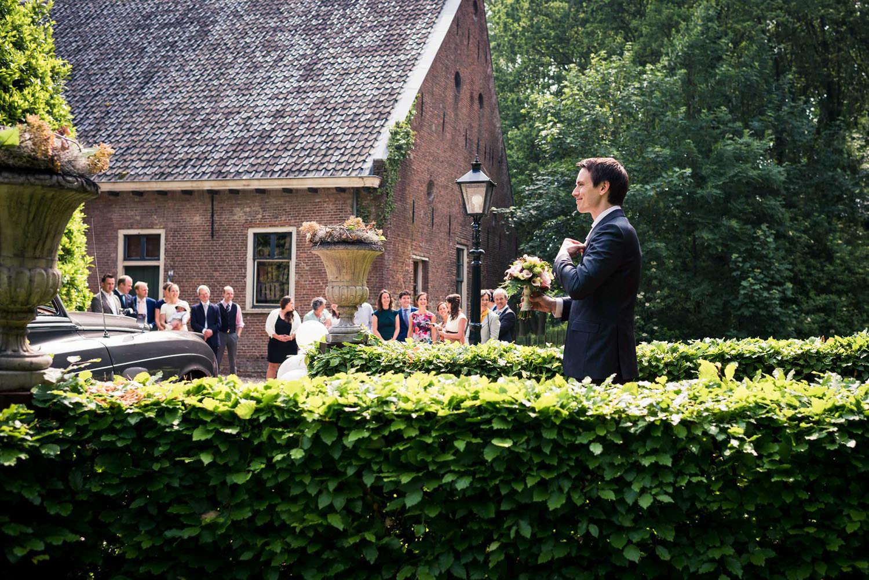 ontmoeting bruid en bruidegom kasteel wijenburg