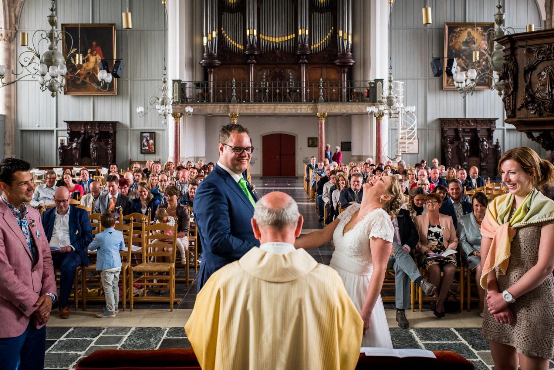 Copy of overzicht Sint Gertrudiskerk vanaf de voorzijde tijdens huwelijksceremonie door Cfoto