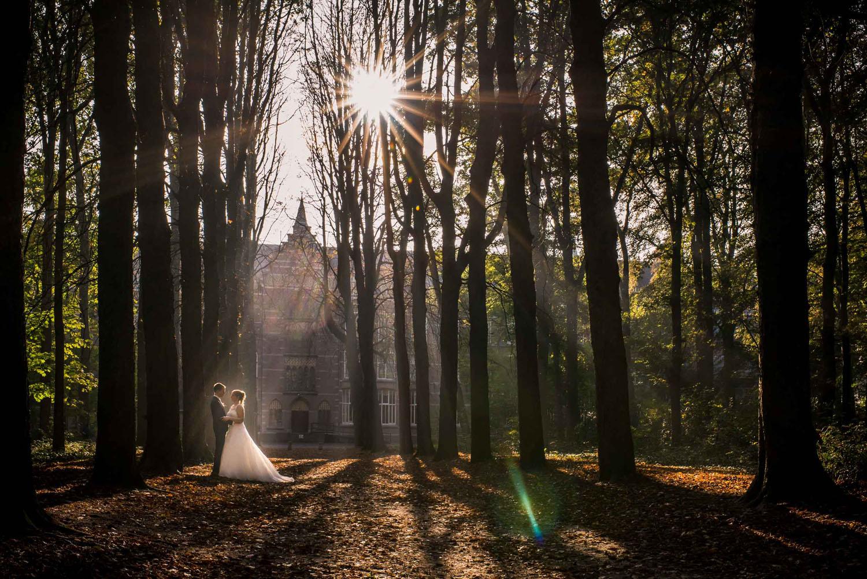 Copy of prachtige overzichtsfoto met Seminari Bovendonk op de achtergrond, met ondergaande zon, door Cfoto