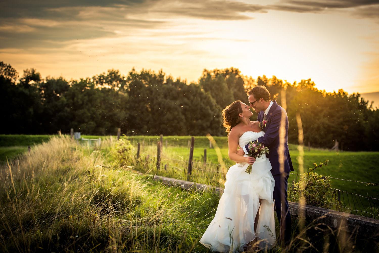 Copy of ondergaande zon op Fort Sabina, prachtig fotomoment tijdens huwelijk