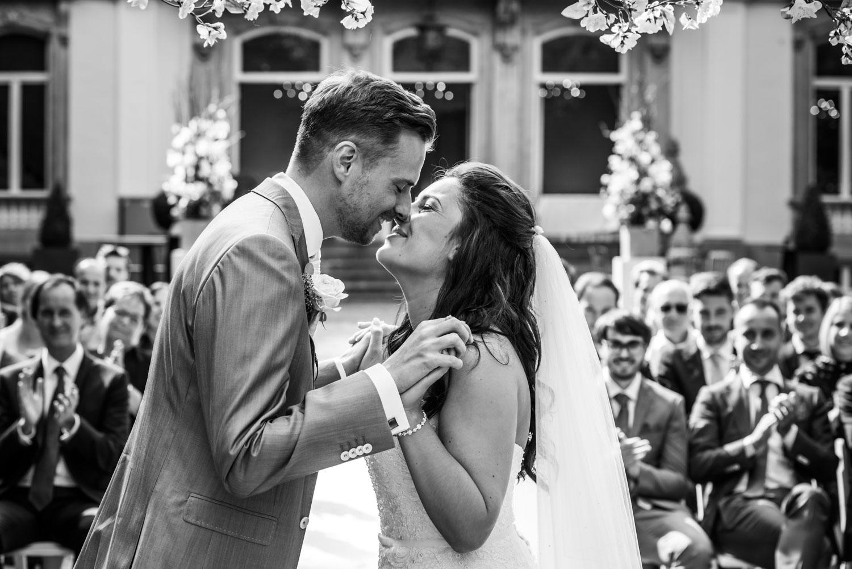 Huwelijk met de ceremonie bij Landgoed Wolfslaar Breda en de borrel, diner en feest bij Het Houtse Meer in Den Hout.